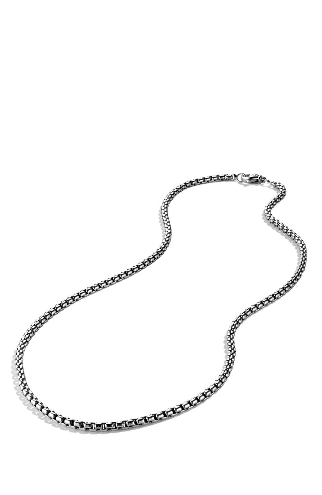 'Chain' Medium Box Chain Necklace,                             Alternate thumbnail 2, color,                             SILVER