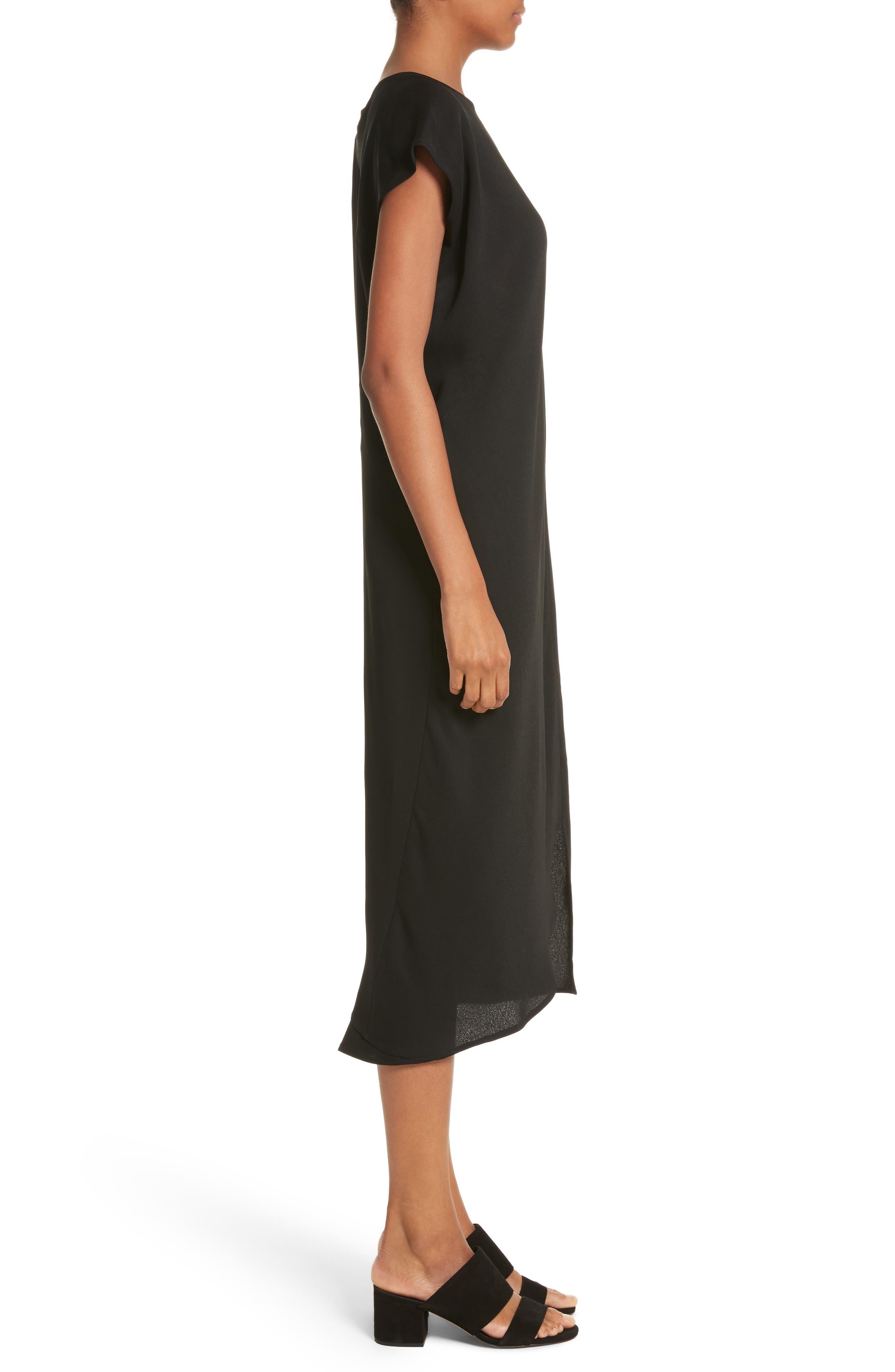 Tula Eco Drape Dress,                             Alternate thumbnail 3, color,                             001