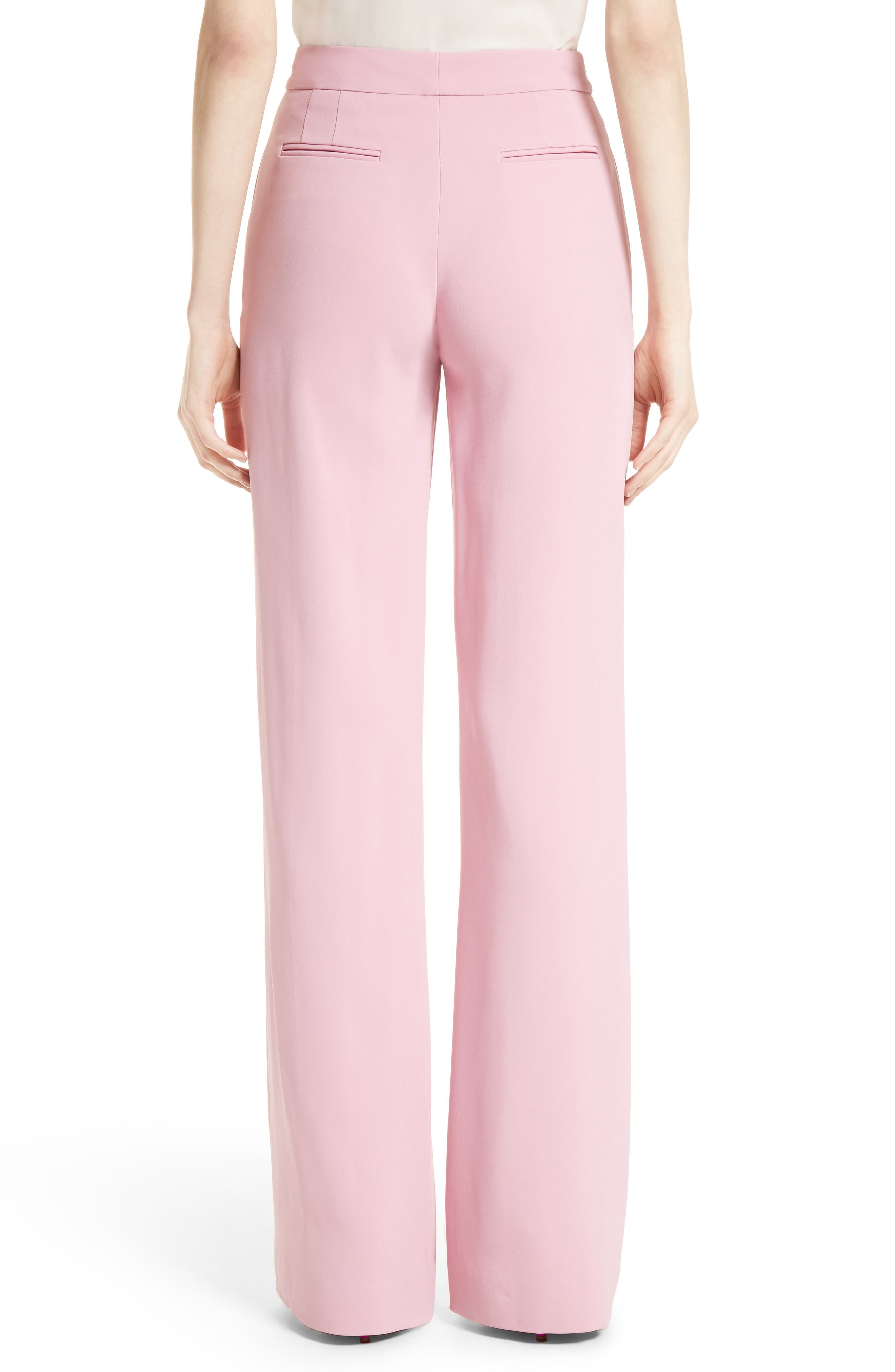 Stretch Cady Wide Leg Trousers,                             Alternate thumbnail 2, color,