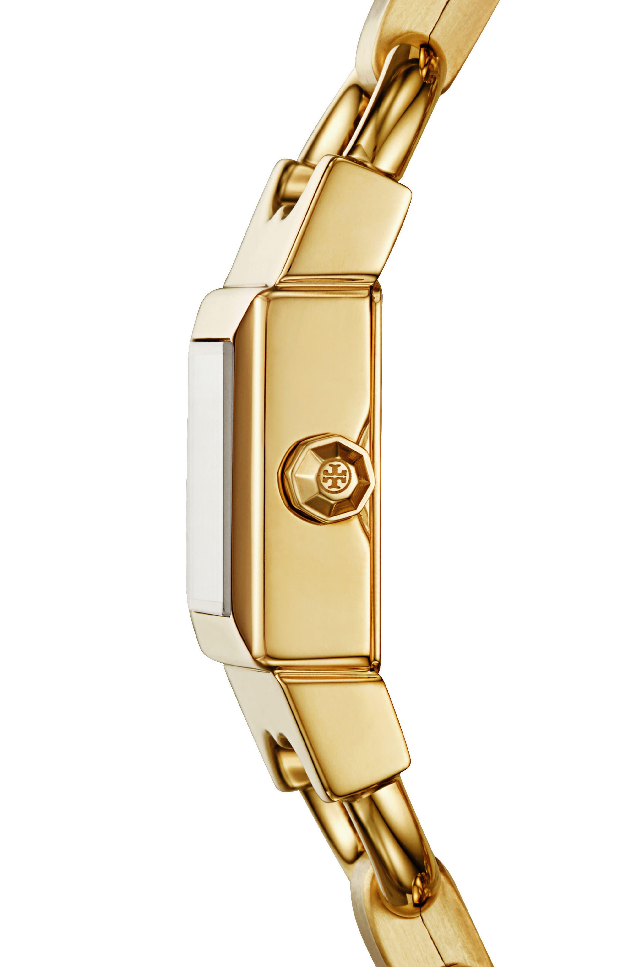 Double T Link Bracelet Watch, 18mm,                             Alternate thumbnail 2, color,                             710