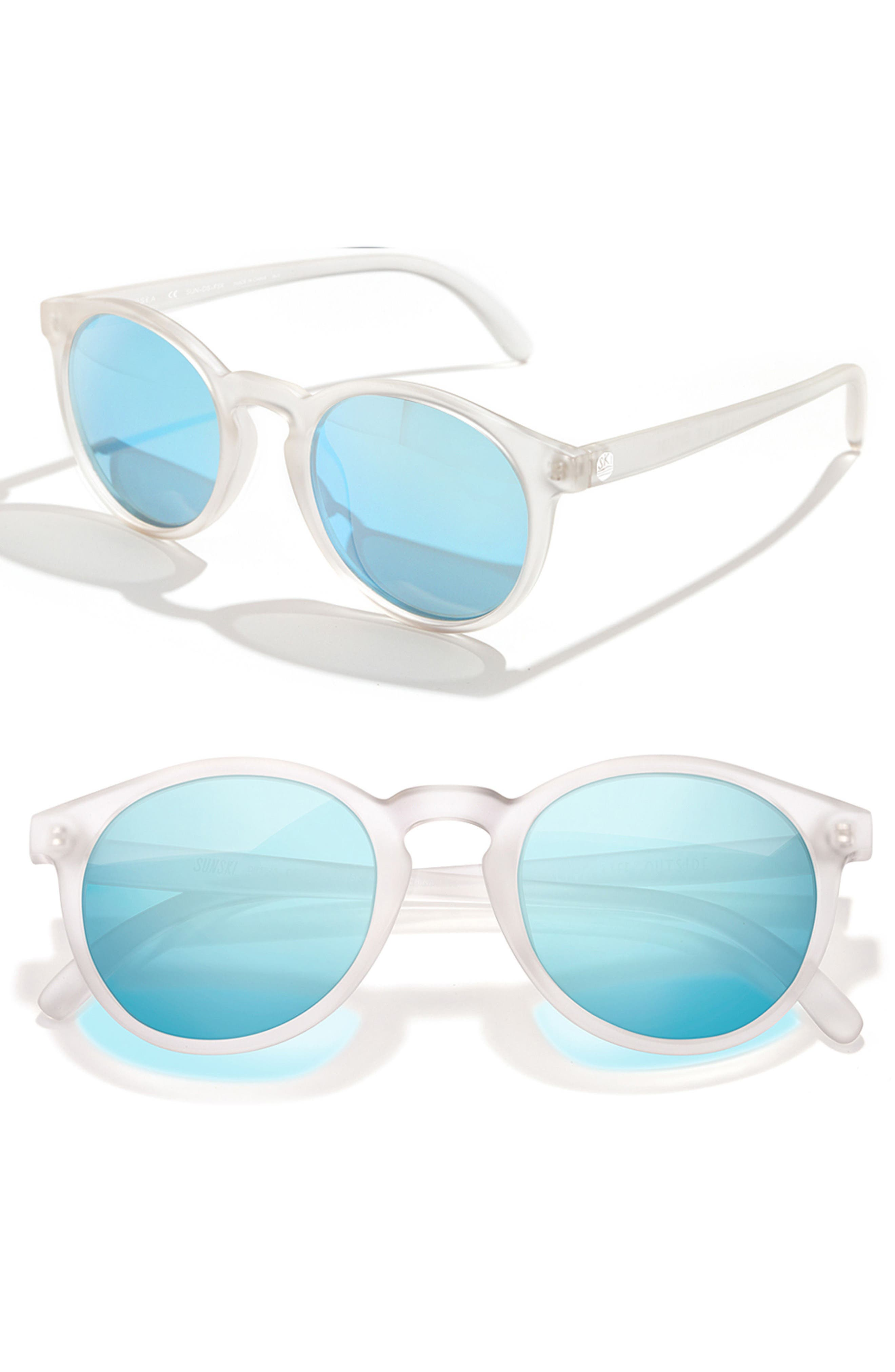 Dipsea 48mm Polarized Sunglasses,                             Main thumbnail 1, color,                             FROSTED SKY