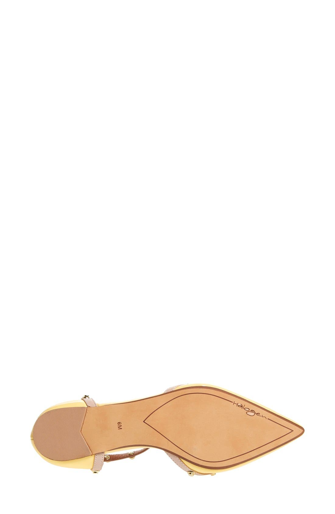 'Olson' Pointy Toe Studded T-Strap Flat,                             Alternate thumbnail 68, color,