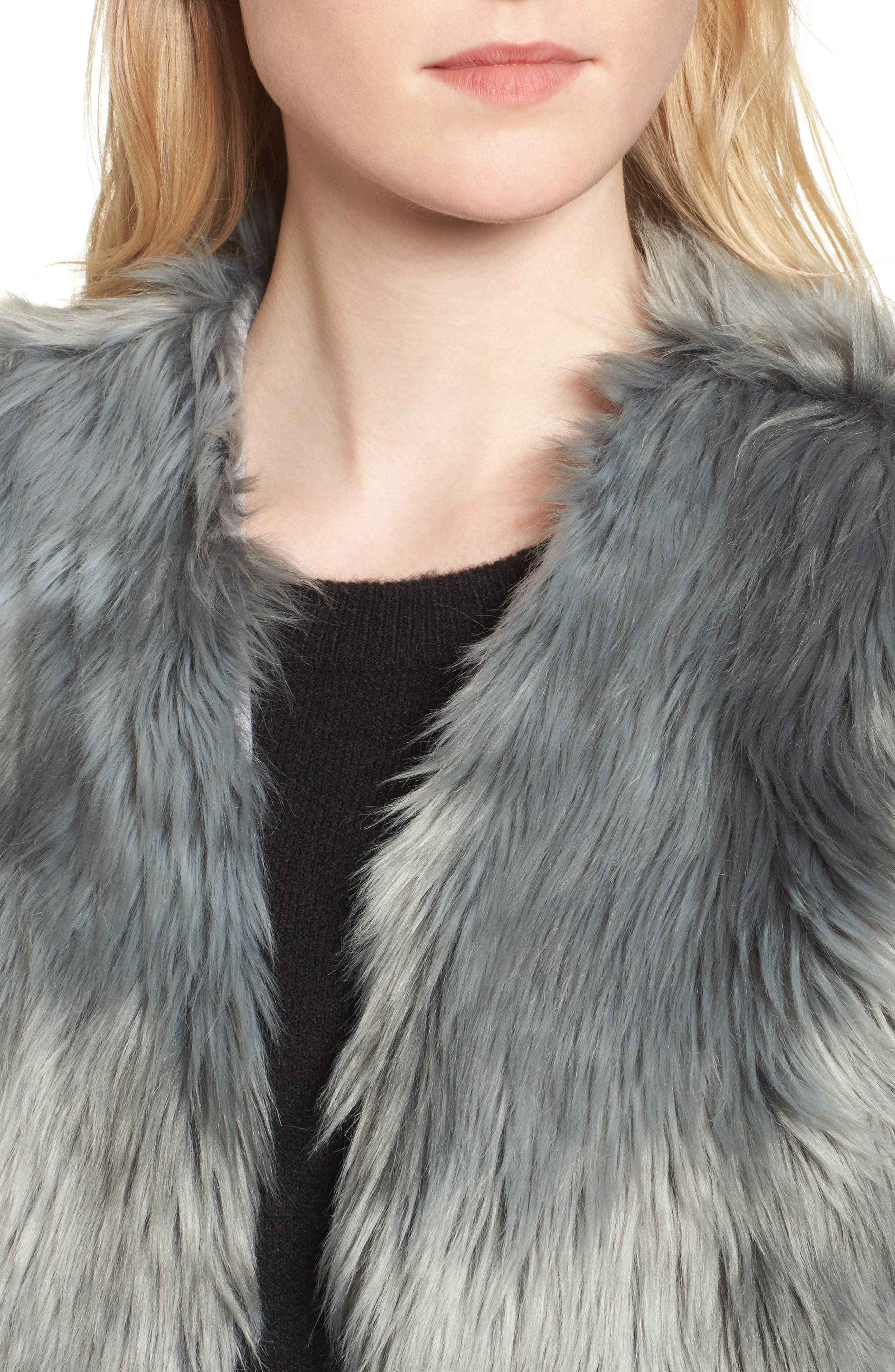 Faux Fur Vest,                             Alternate thumbnail 4, color,                             425