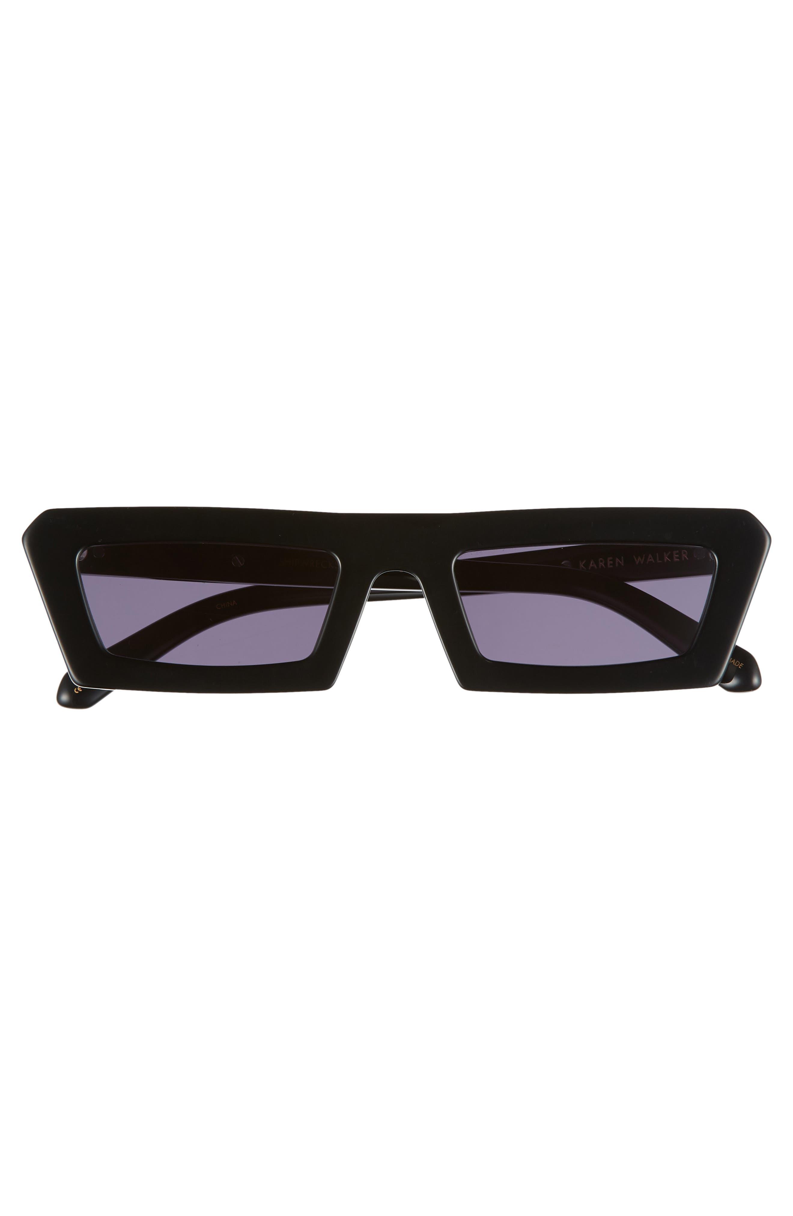 Shipwrecks 52mm Square Sunglasses,                             Alternate thumbnail 3, color,                             BLACK/ SMOKE