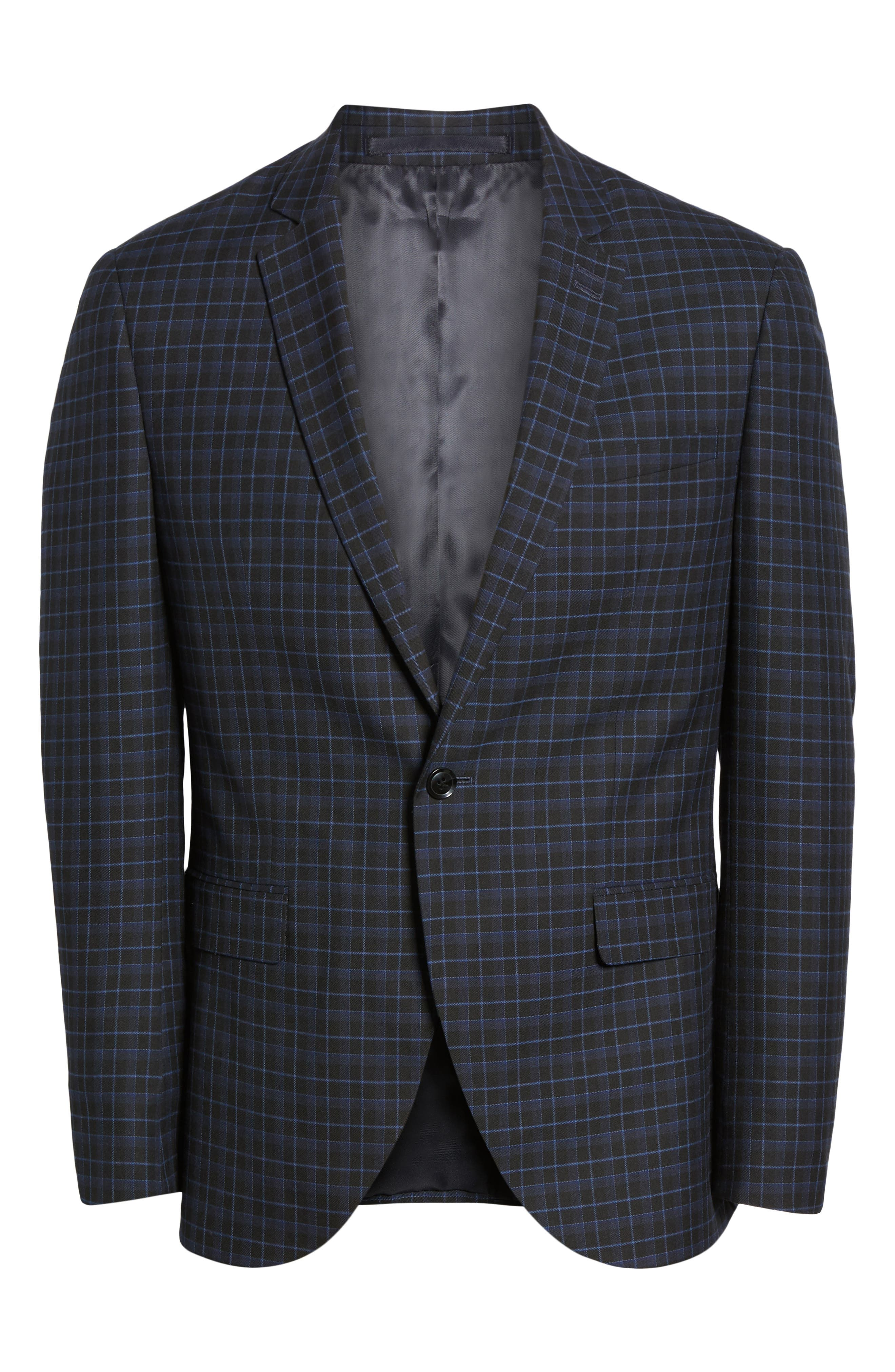 Alsager Slim Fit Check Suit Jacket,                             Alternate thumbnail 5, color,                             021