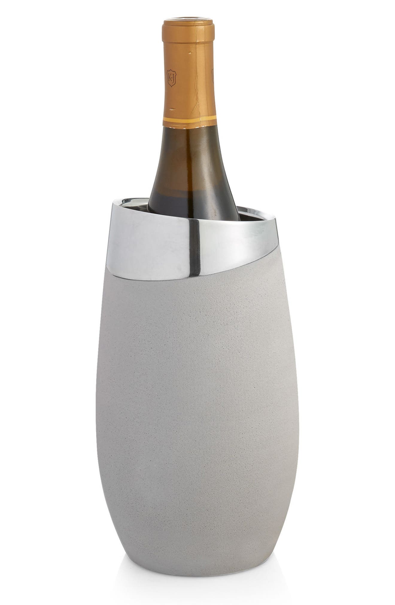 Forte Wine Chiller,                             Alternate thumbnail 3, color,                             SILVER/ GREY