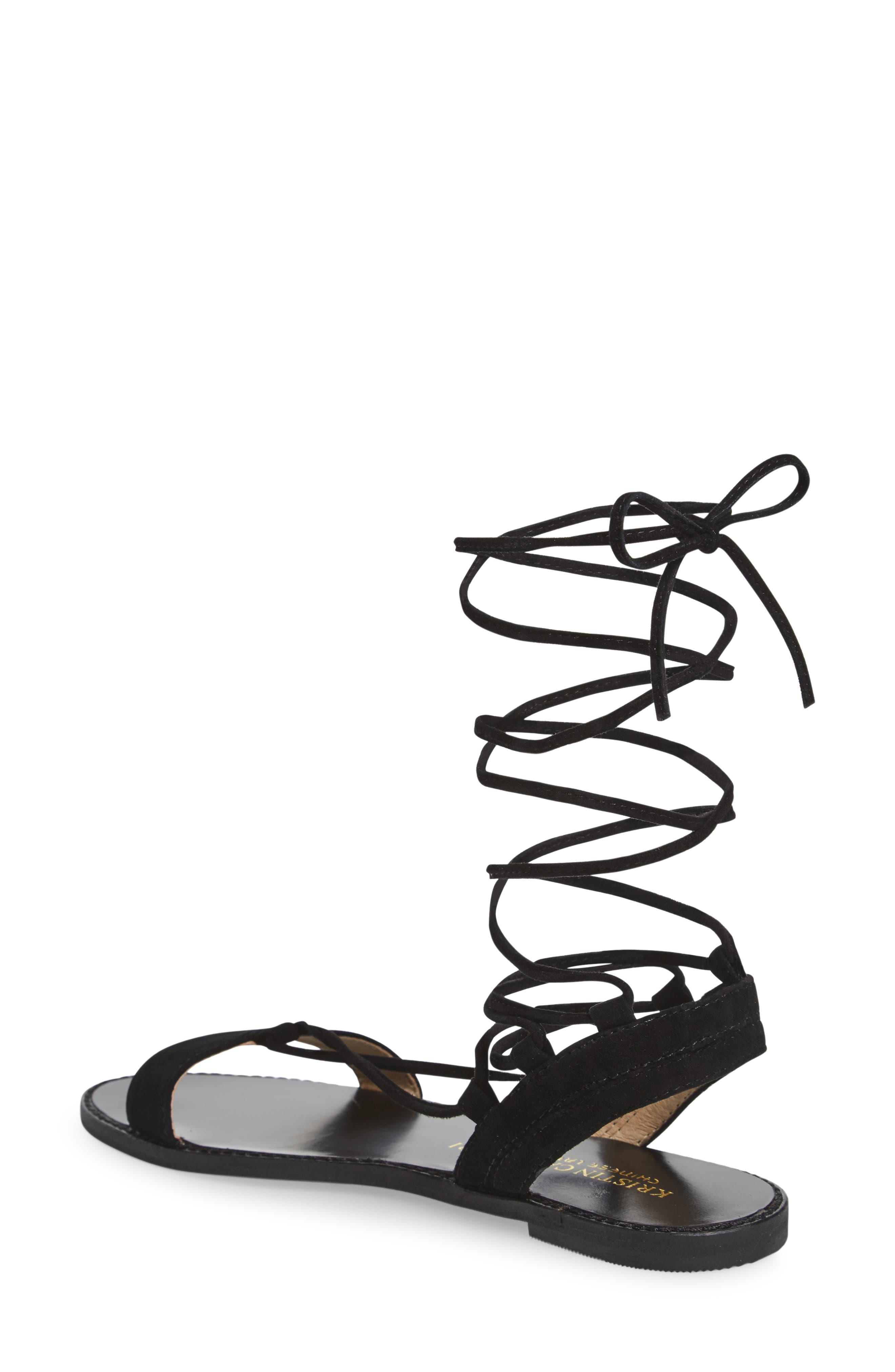 Brea Ankle Wrap Sandal,                             Alternate thumbnail 3, color,