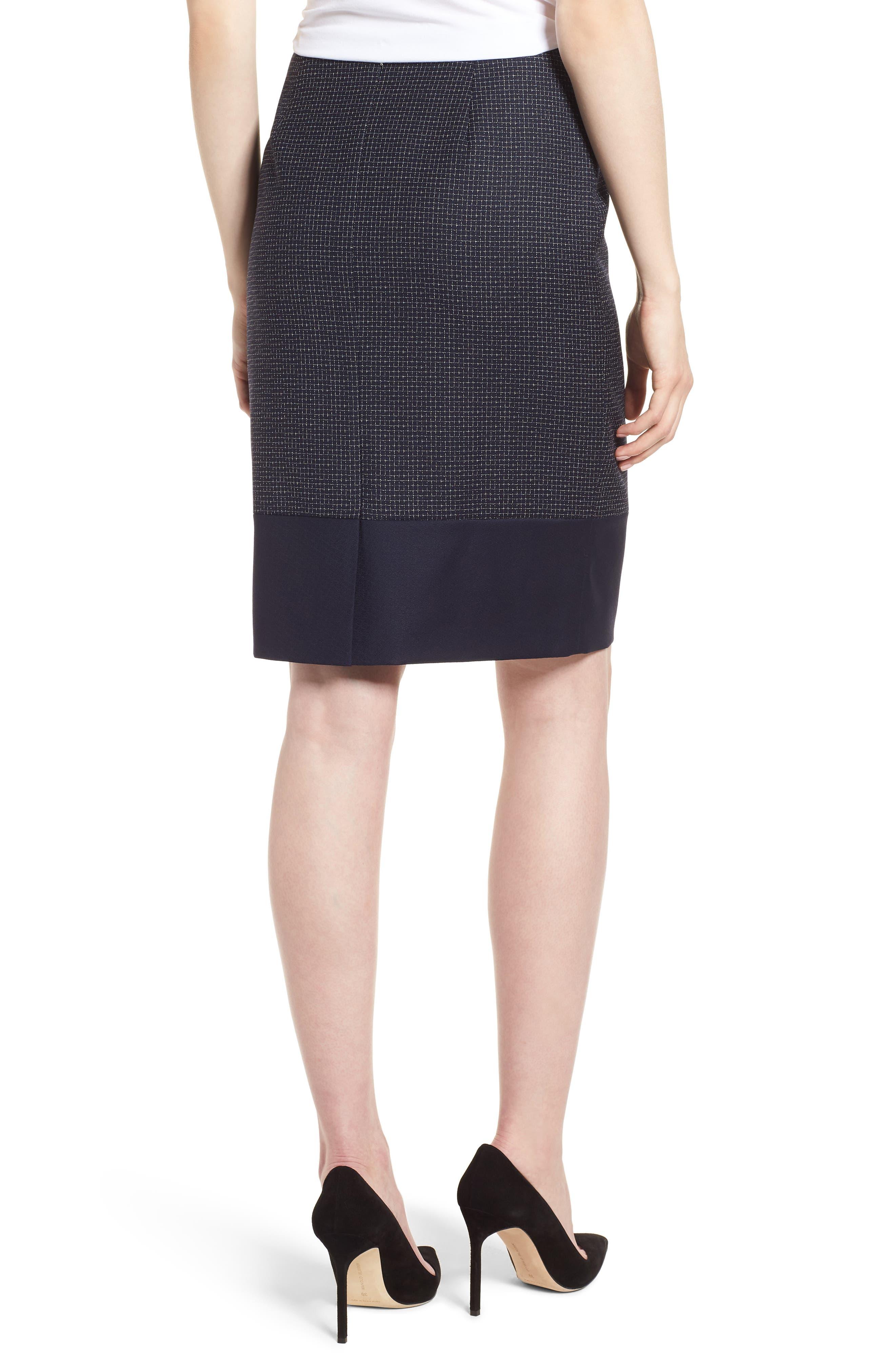 BOSS,                             Vibena Windowpane Skirt,                             Alternate thumbnail 2, color,                             170