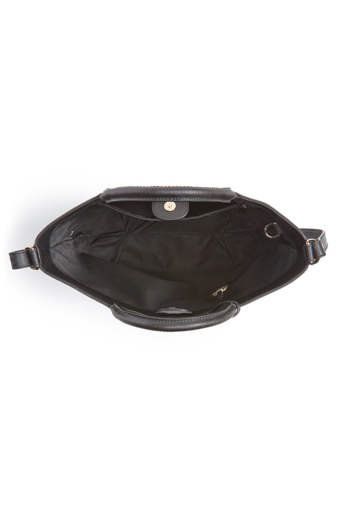 'Alissa - Large' Saffiano Leather Tote,                             Alternate thumbnail 4, color,                             001
