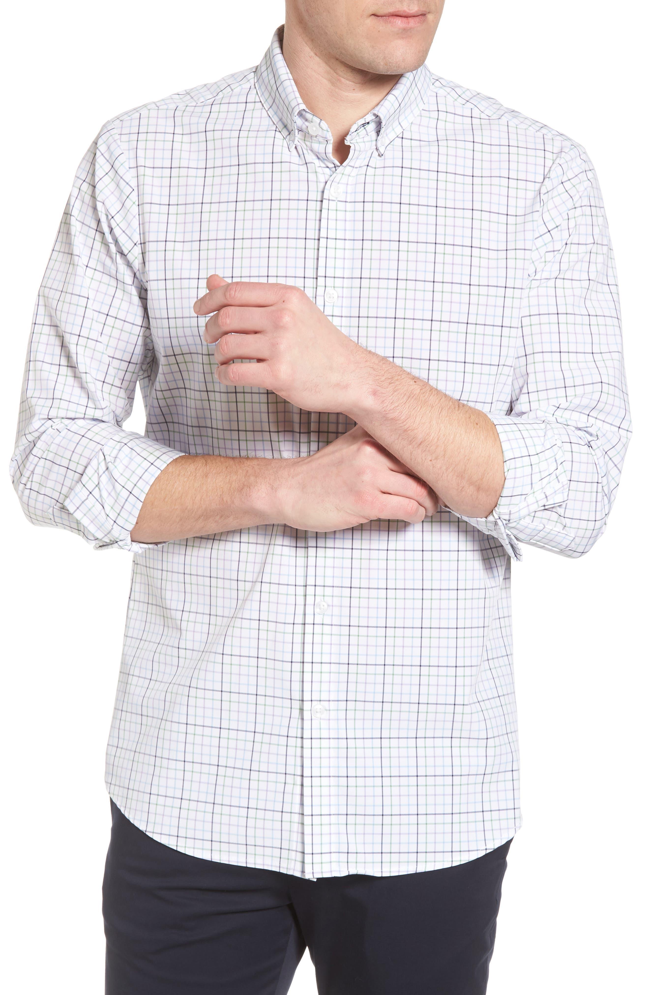 Robertson Check Performance Sport Shirt,                             Alternate thumbnail 4, color,                             585