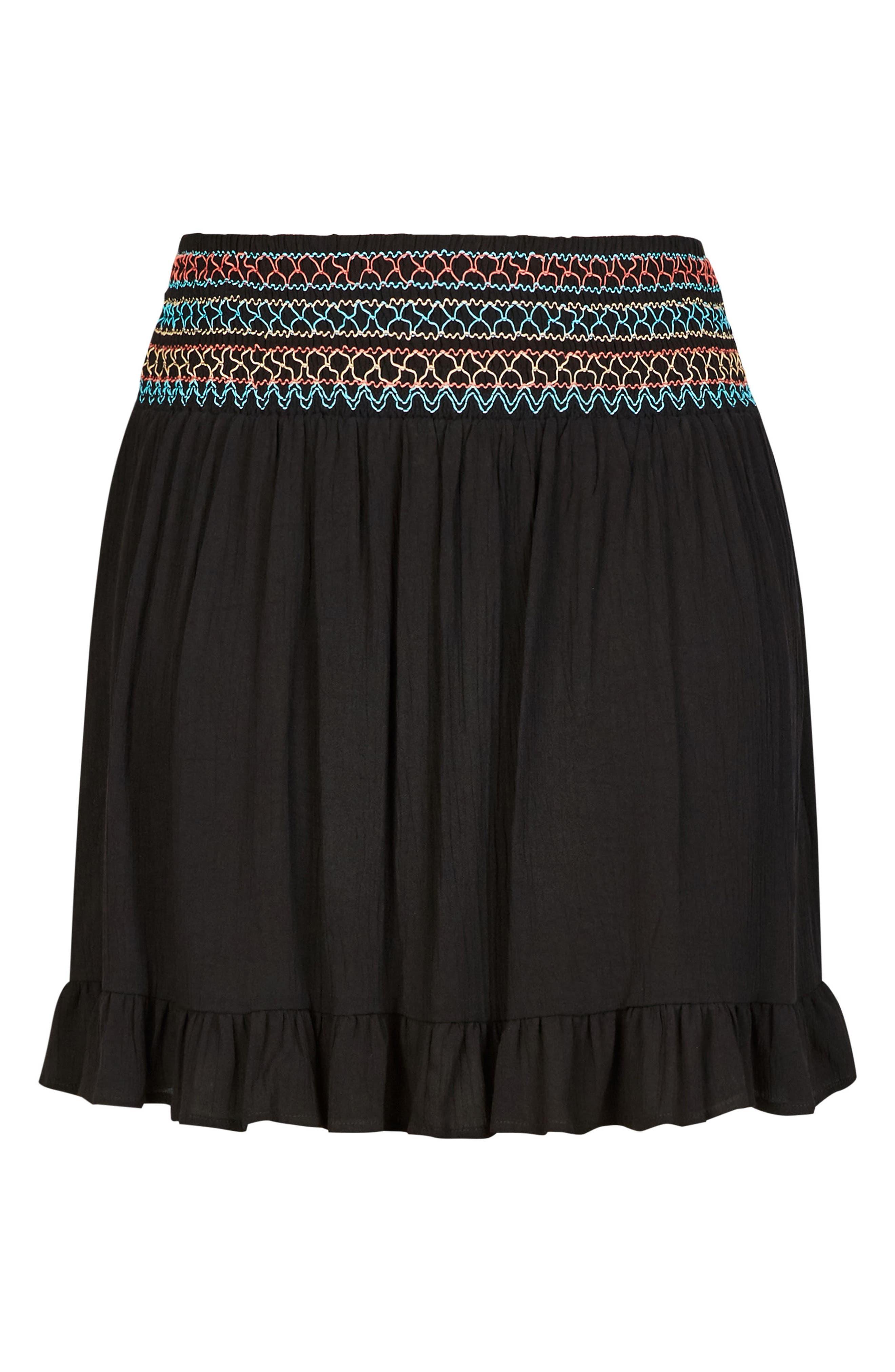 CITY CHIC,                             Makana Skirt,                             Alternate thumbnail 3, color,                             001