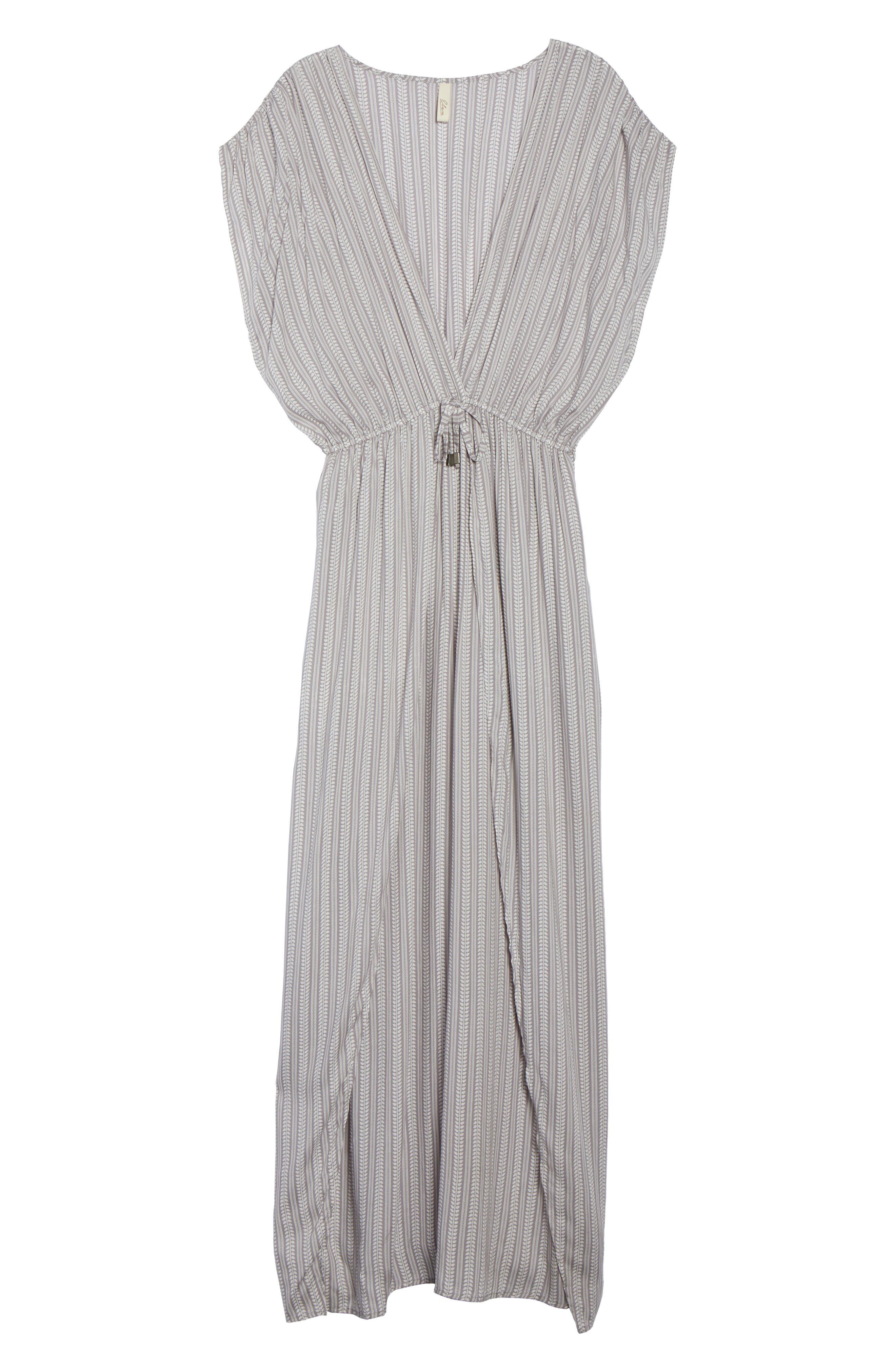 Wrap Maxi Cover-Up Dress,                             Alternate thumbnail 11, color,