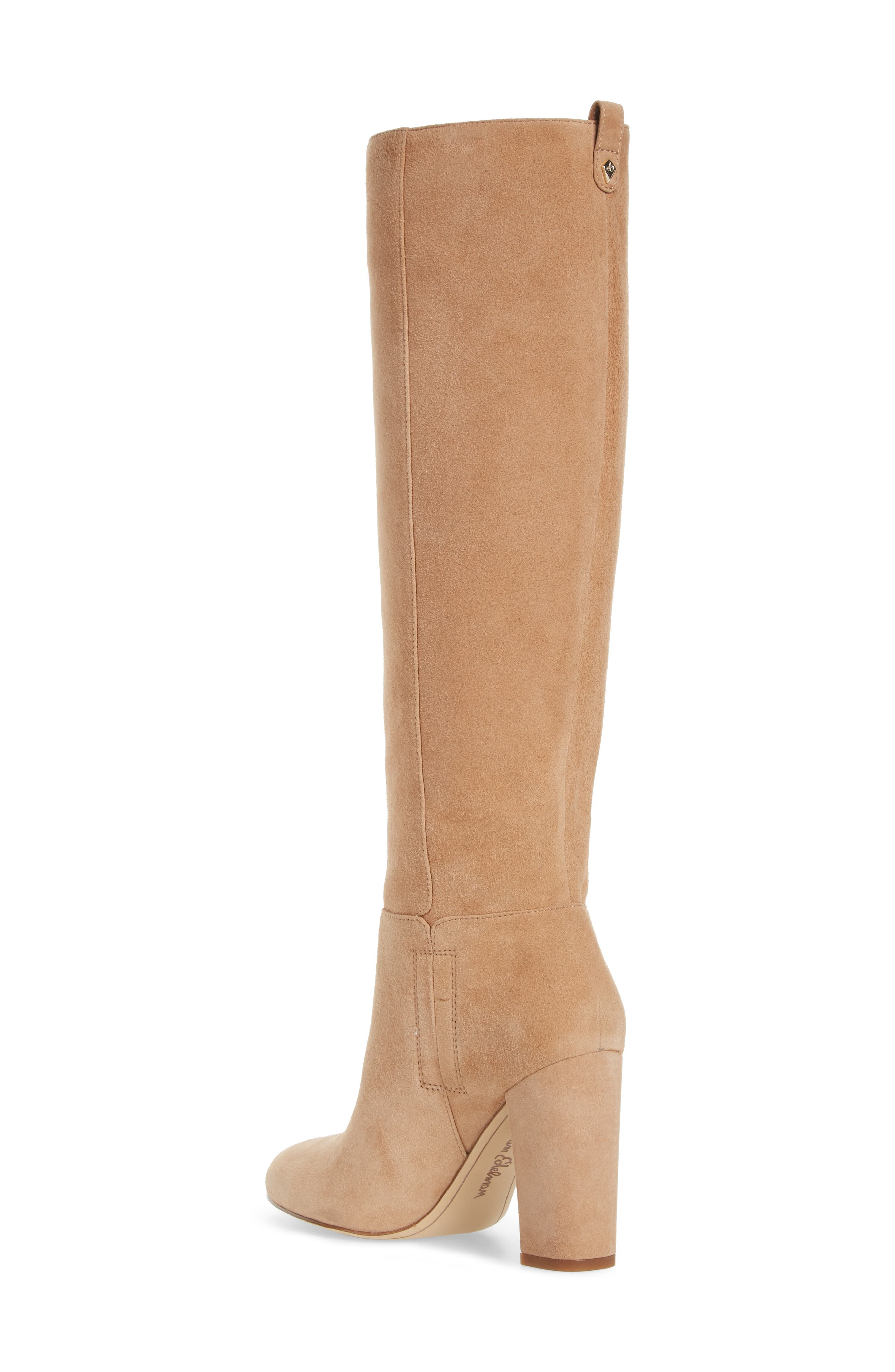 Caprice Knee-High Boot,                             Alternate thumbnail 2, color,                             GOLDEN CARAMEL SUEDE