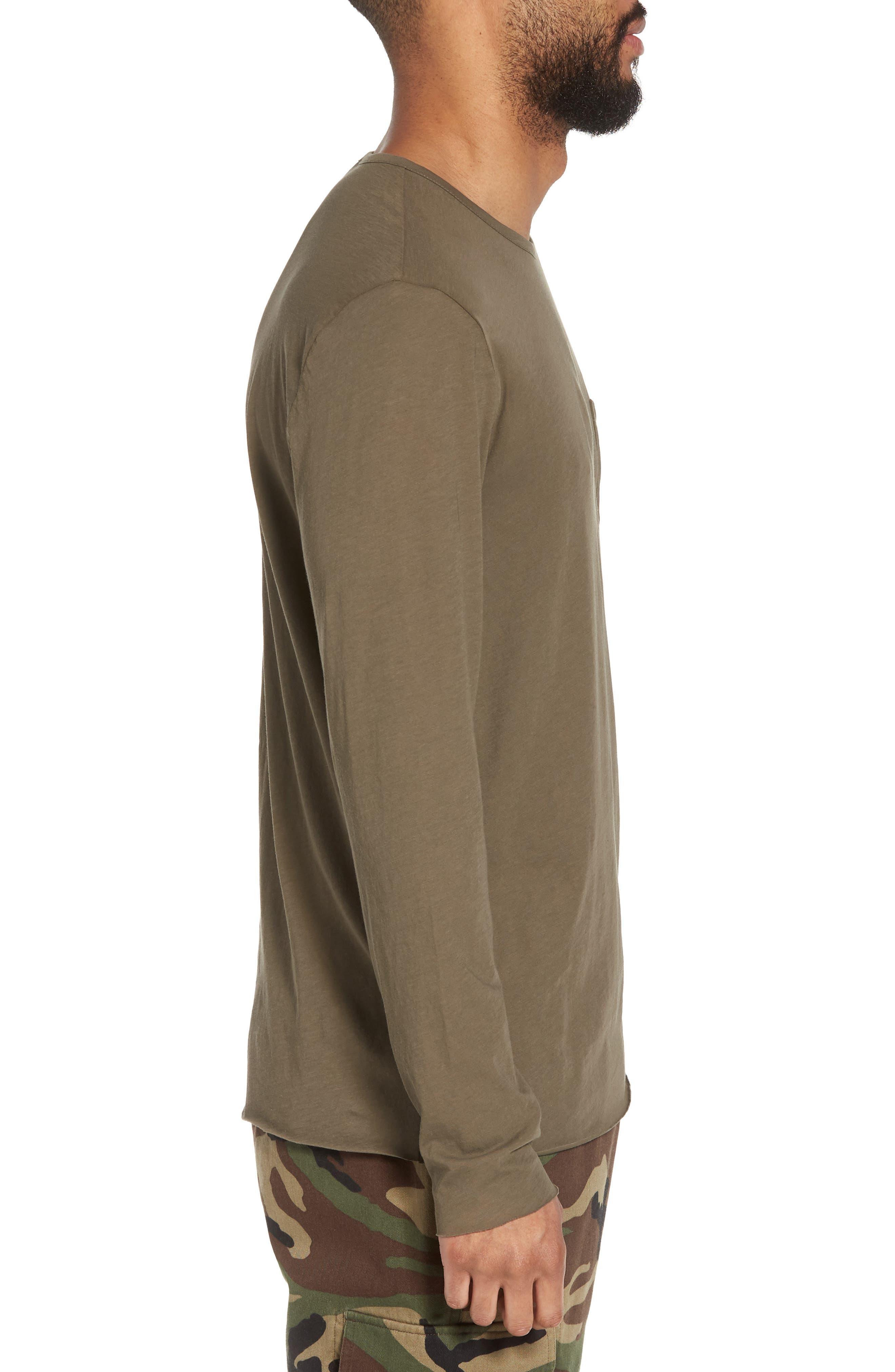Slim Fit Stripe Pocket T-Shirt,                             Alternate thumbnail 11, color,