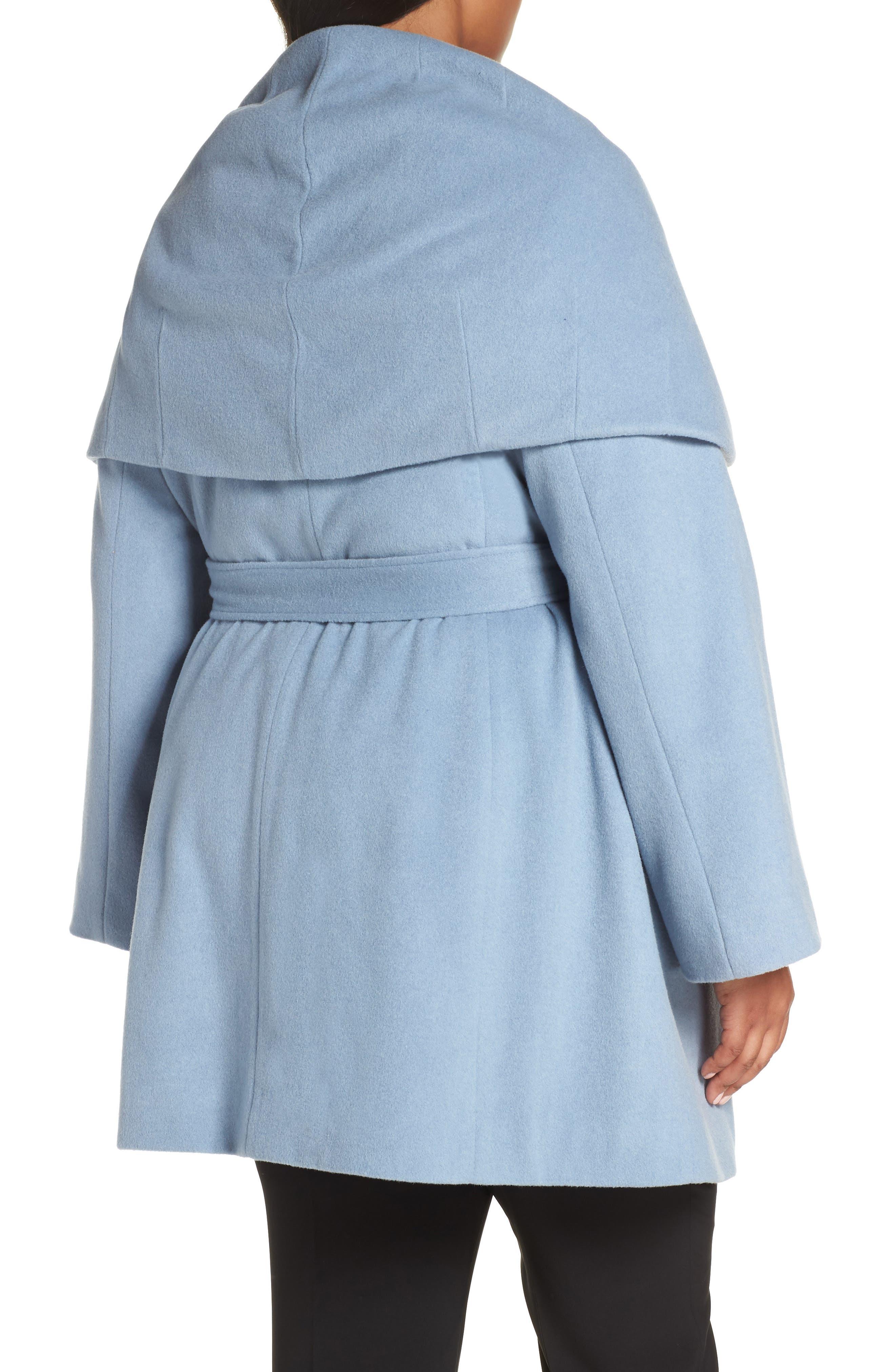 Marla Cutaway Wrap Coat with Oversize Collar,                             Alternate thumbnail 6, color,
