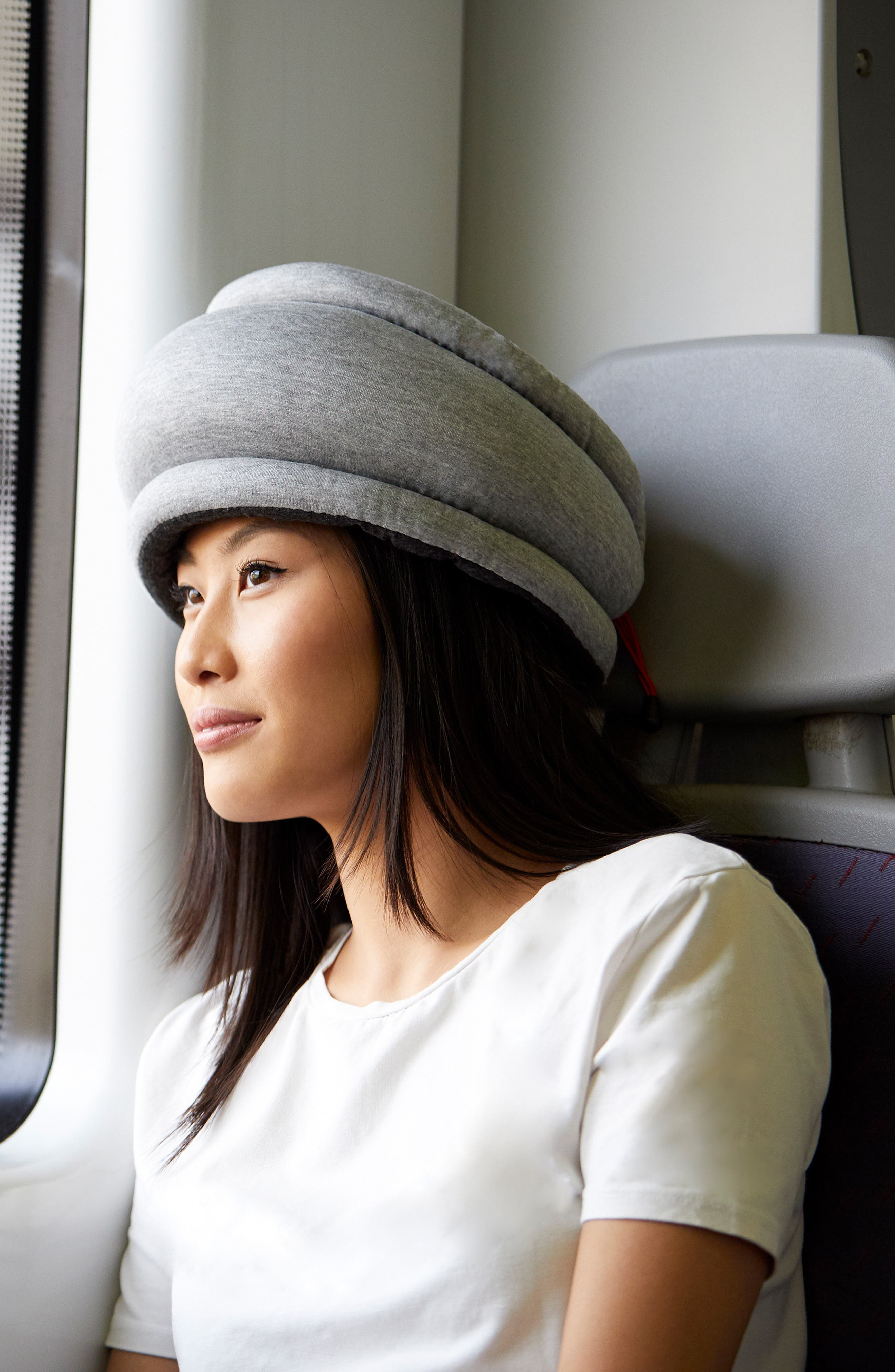 OSTRICHPILLOW<sup>®</sup> Light Reversible Travel Pillow,                             Alternate thumbnail 4, color,                             MOONLIGHT BLUE