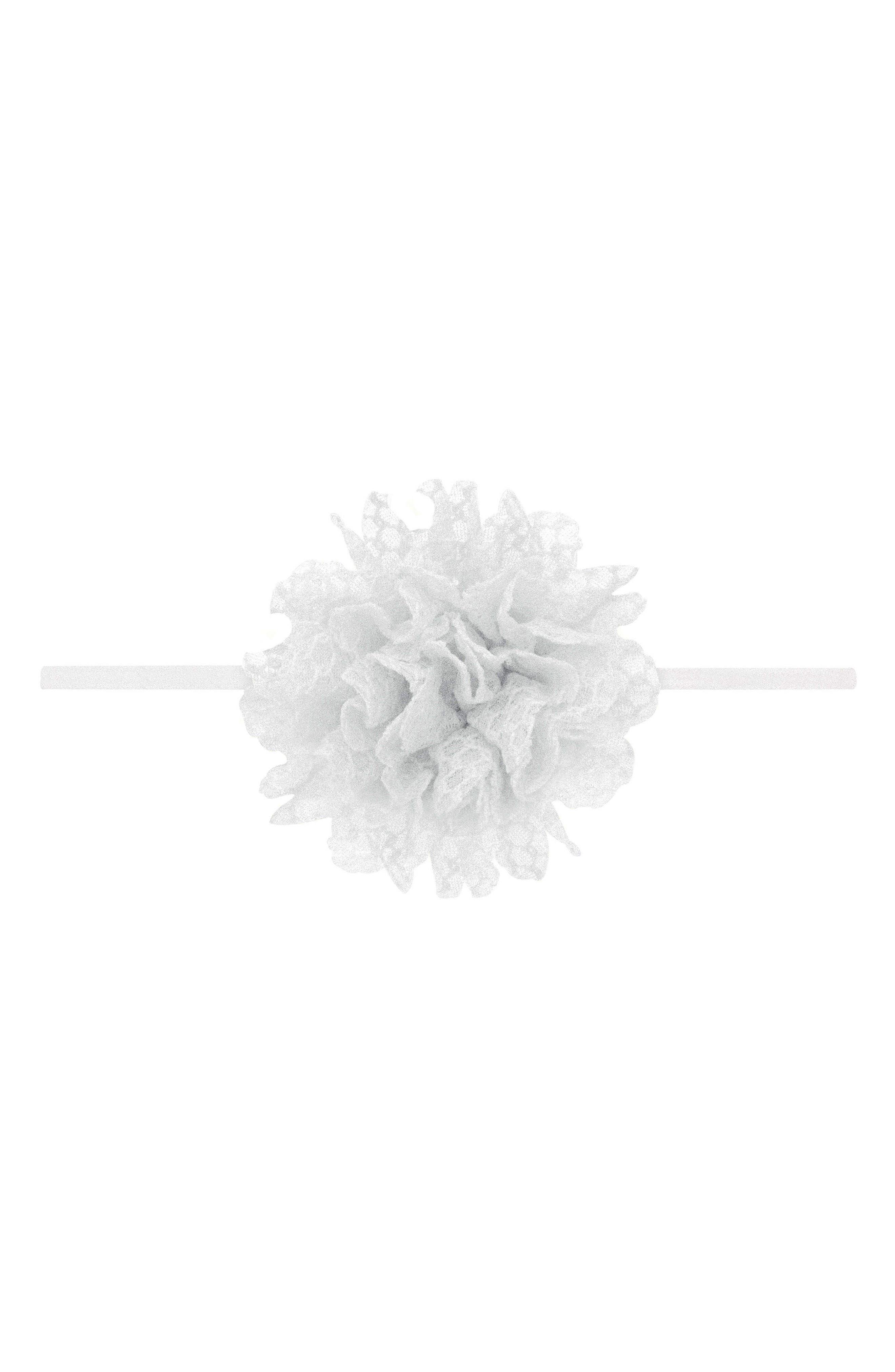 Floral Head Wrap,                             Main thumbnail 1, color,                             WHITE