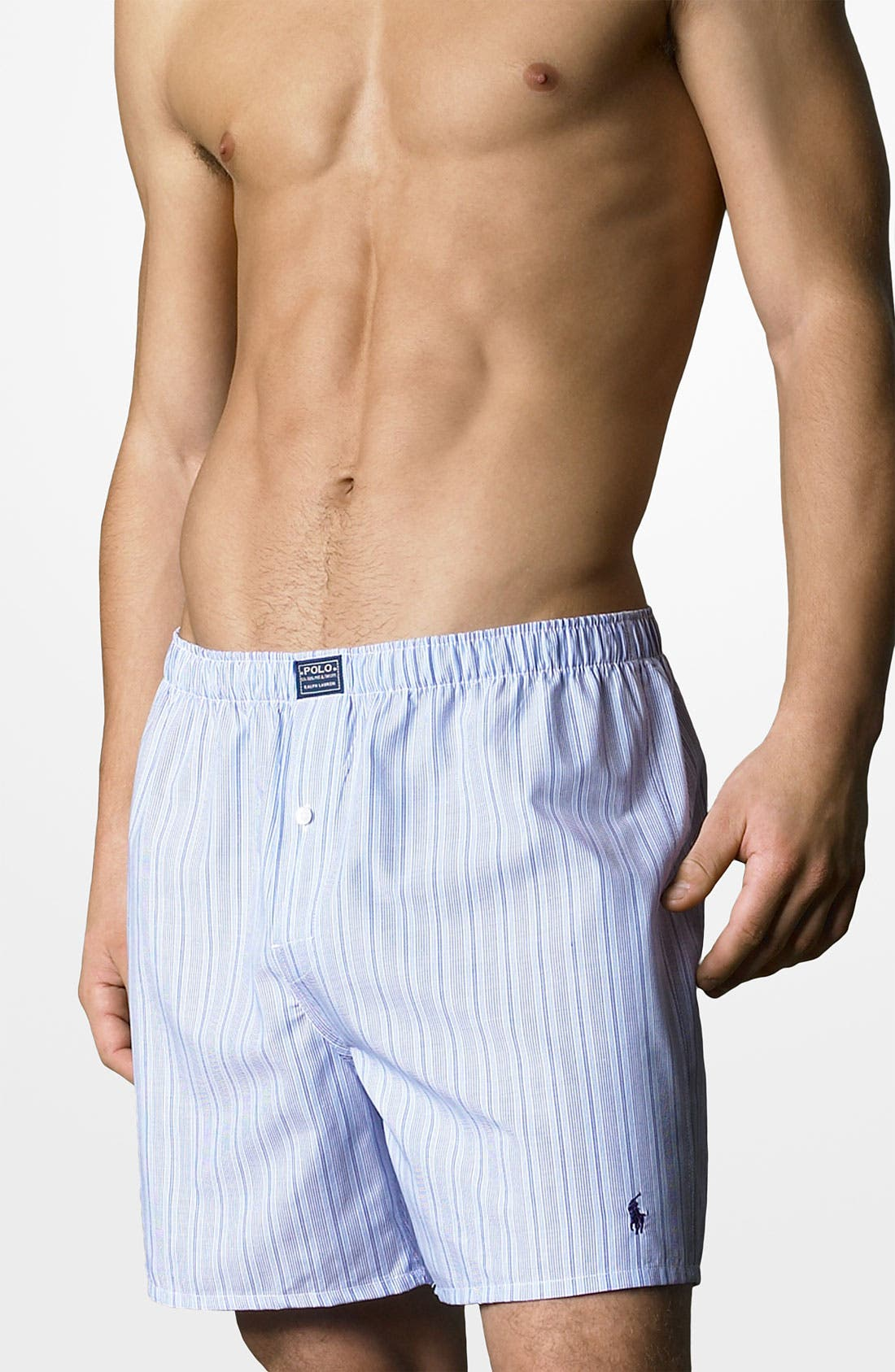 Woven Boxer Shorts,                         Main,                         color, ANDREW BLUE