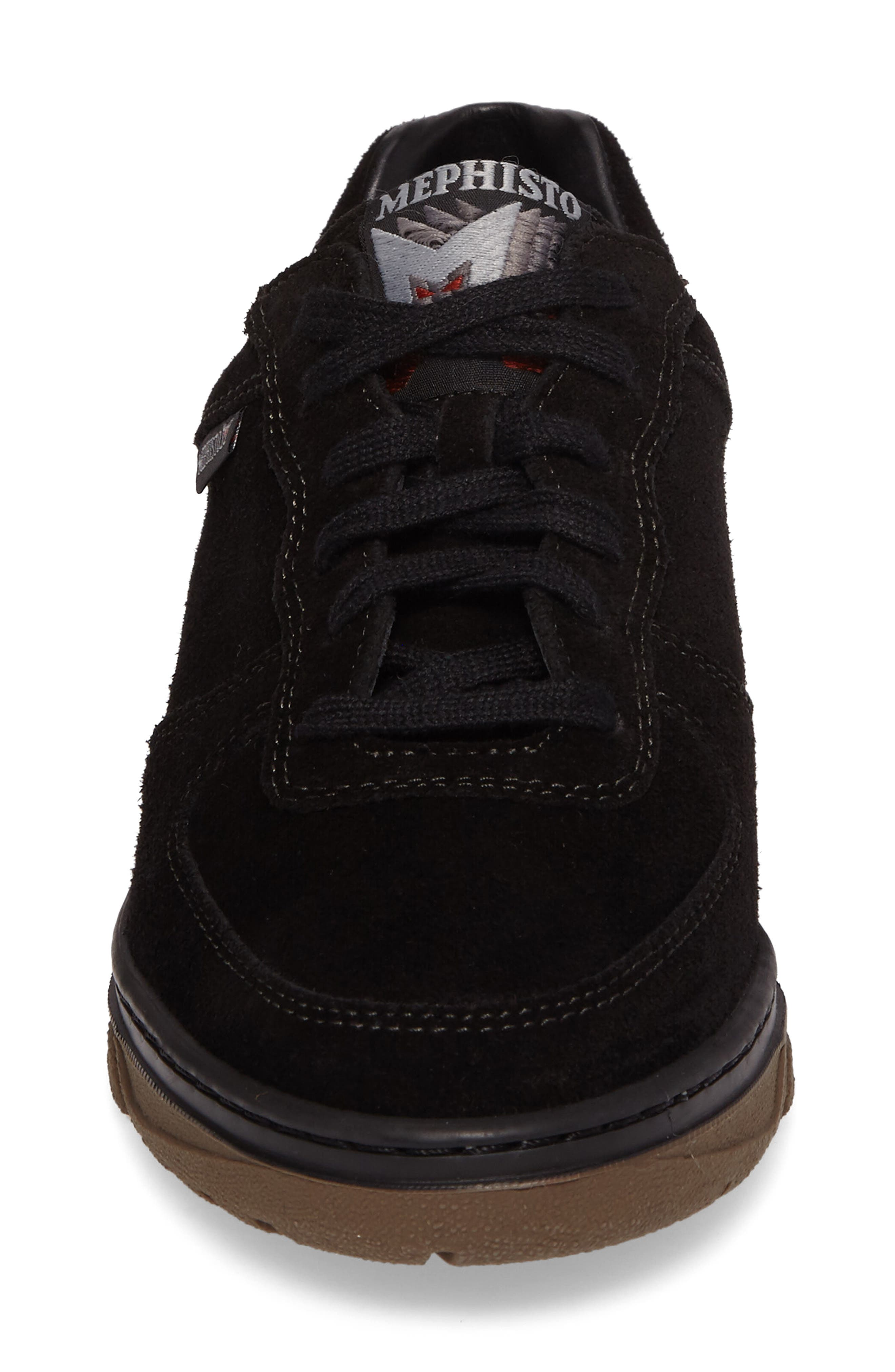 Nykita Sneaker,                             Alternate thumbnail 4, color,                             BLACK SUEDE