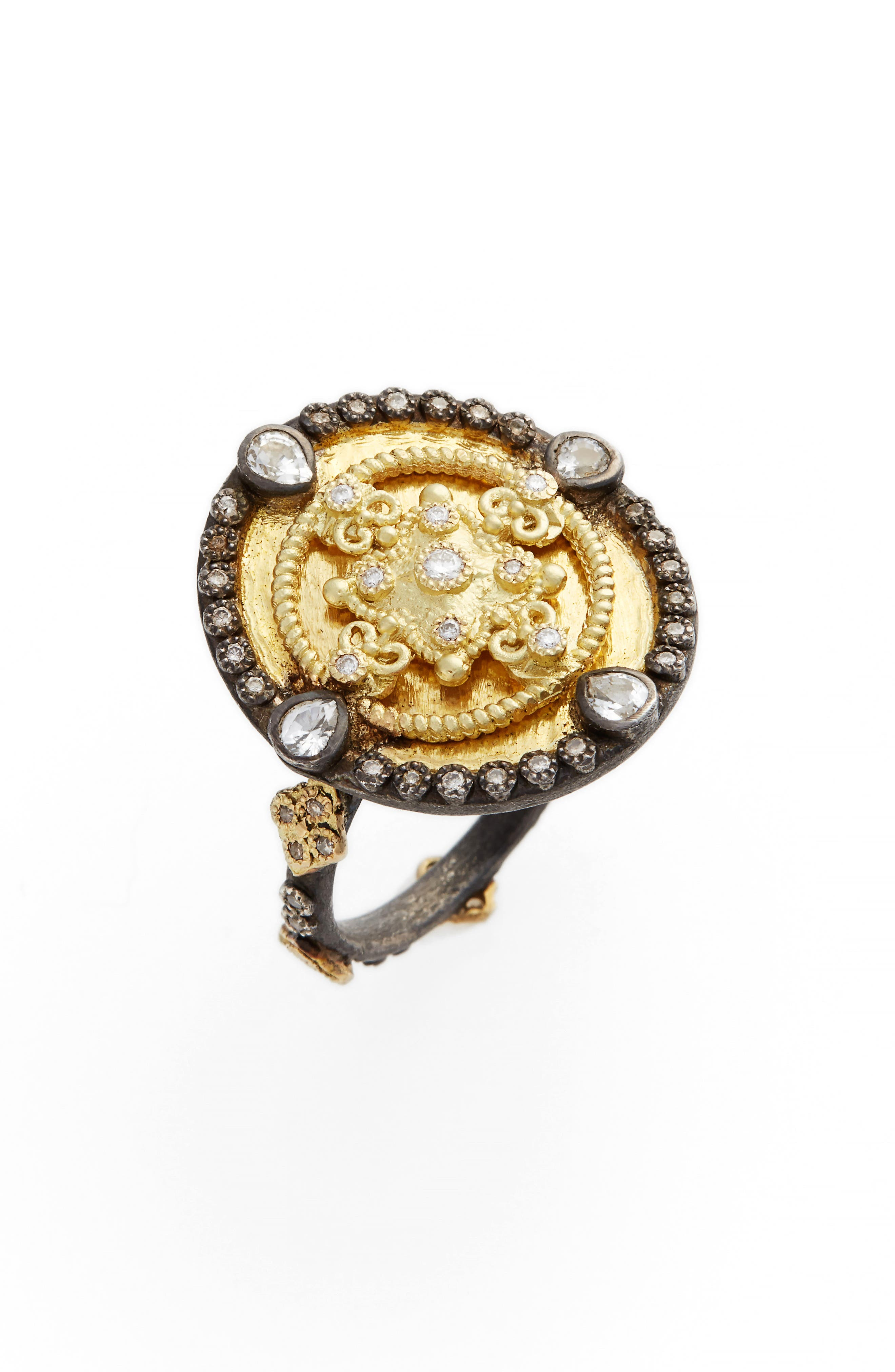 Old World Heraldry Oval Shield Ring,                         Main,                         color, GOLD