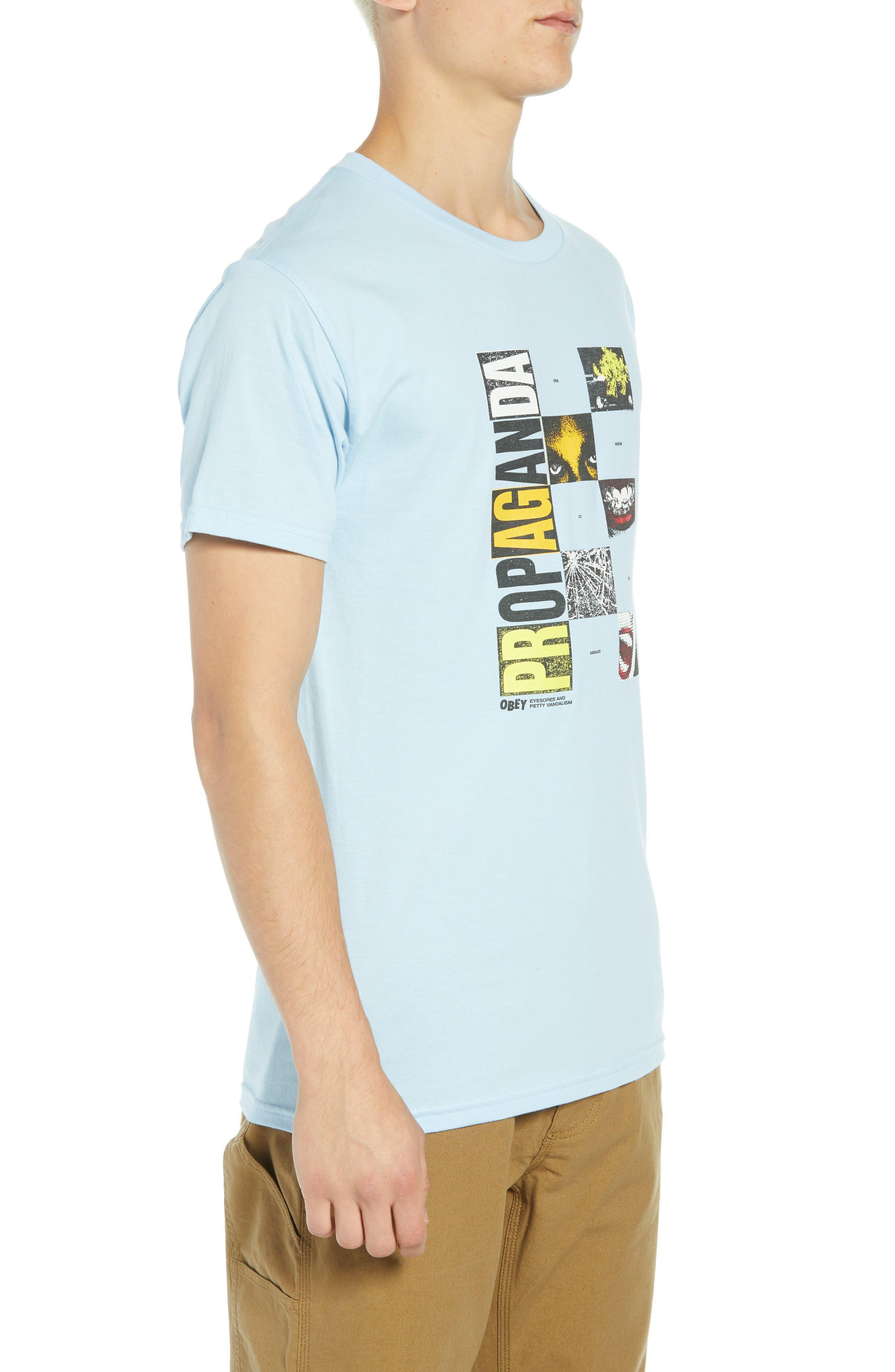 Medium is the Message Premium T-Shirt,                             Alternate thumbnail 3, color,                             POWDER BLUE