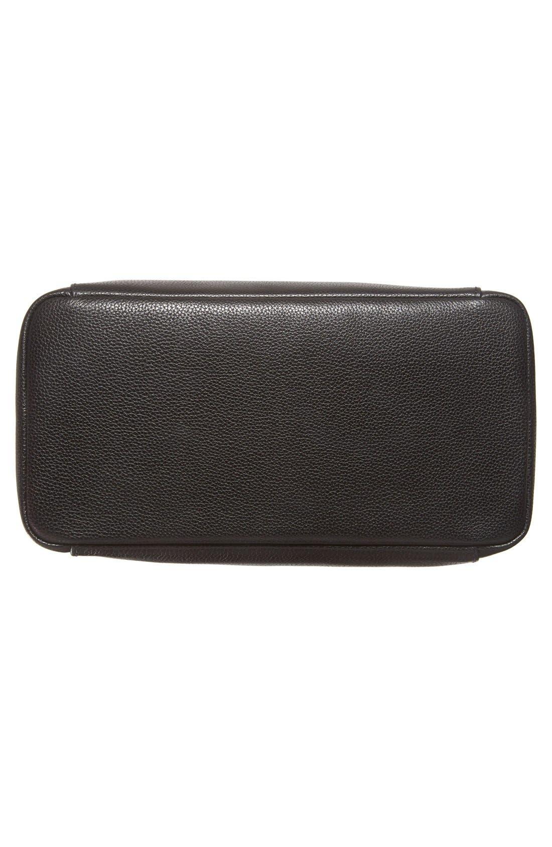 'Le Foulonne' Leather Hobo Bag,                             Alternate thumbnail 6, color,                             BLACK