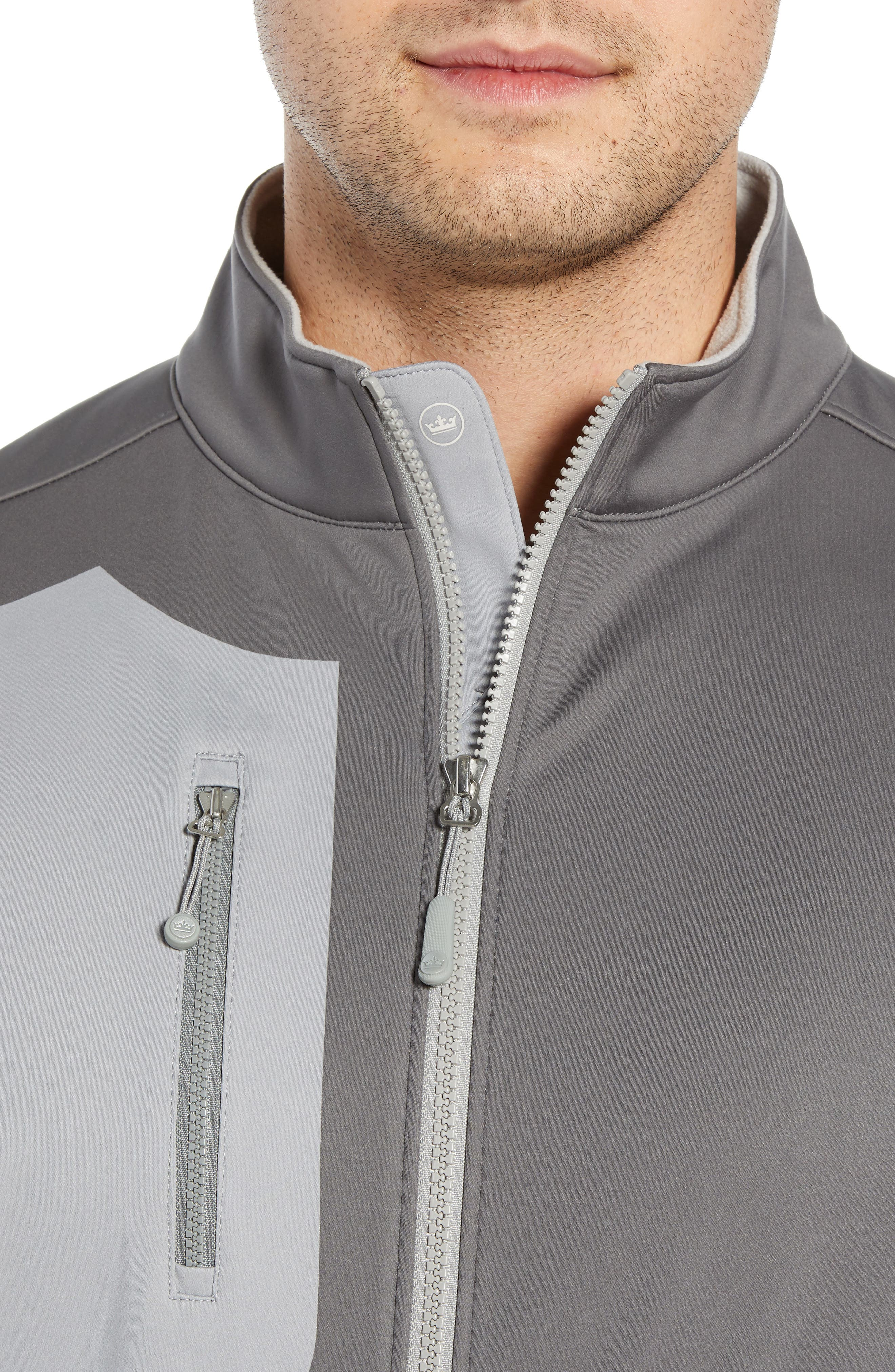 PETER MILLAR,                             Gale Force Stretch Soft Shell Jacket,                             Alternate thumbnail 4, color,                             SMOKE