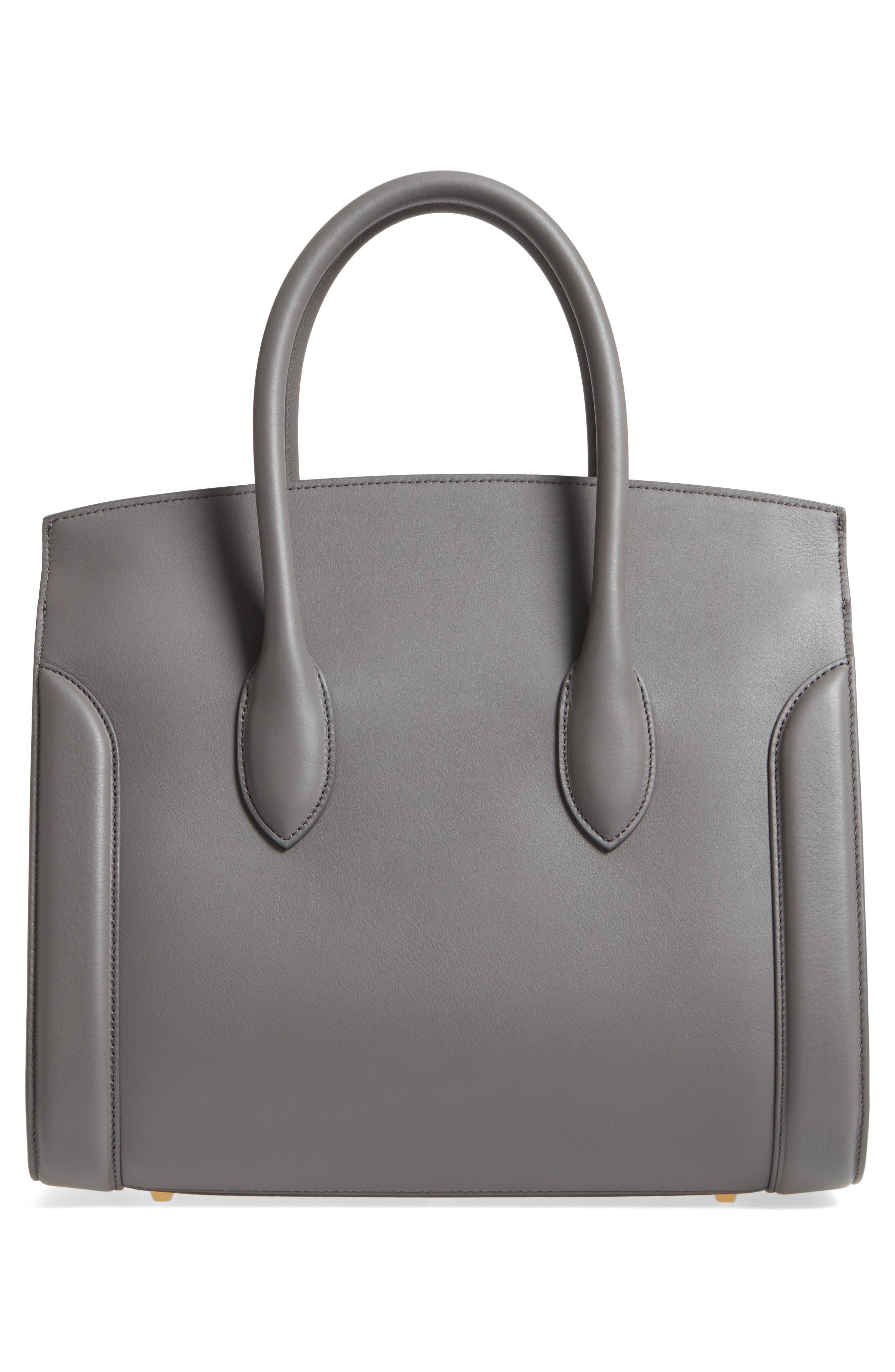 Large Heroine Calfskin Leather Shopper,                             Alternate thumbnail 3, color,                             067