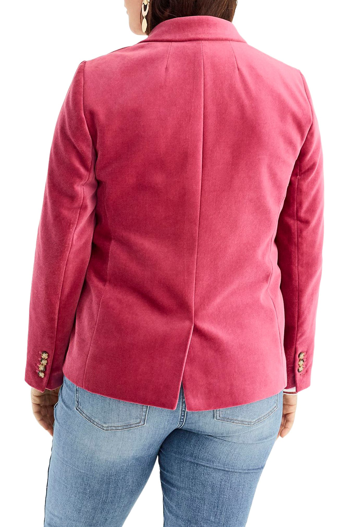 Parke Velvet Blazer,                             Alternate thumbnail 7, color,                             DRIED ROSE