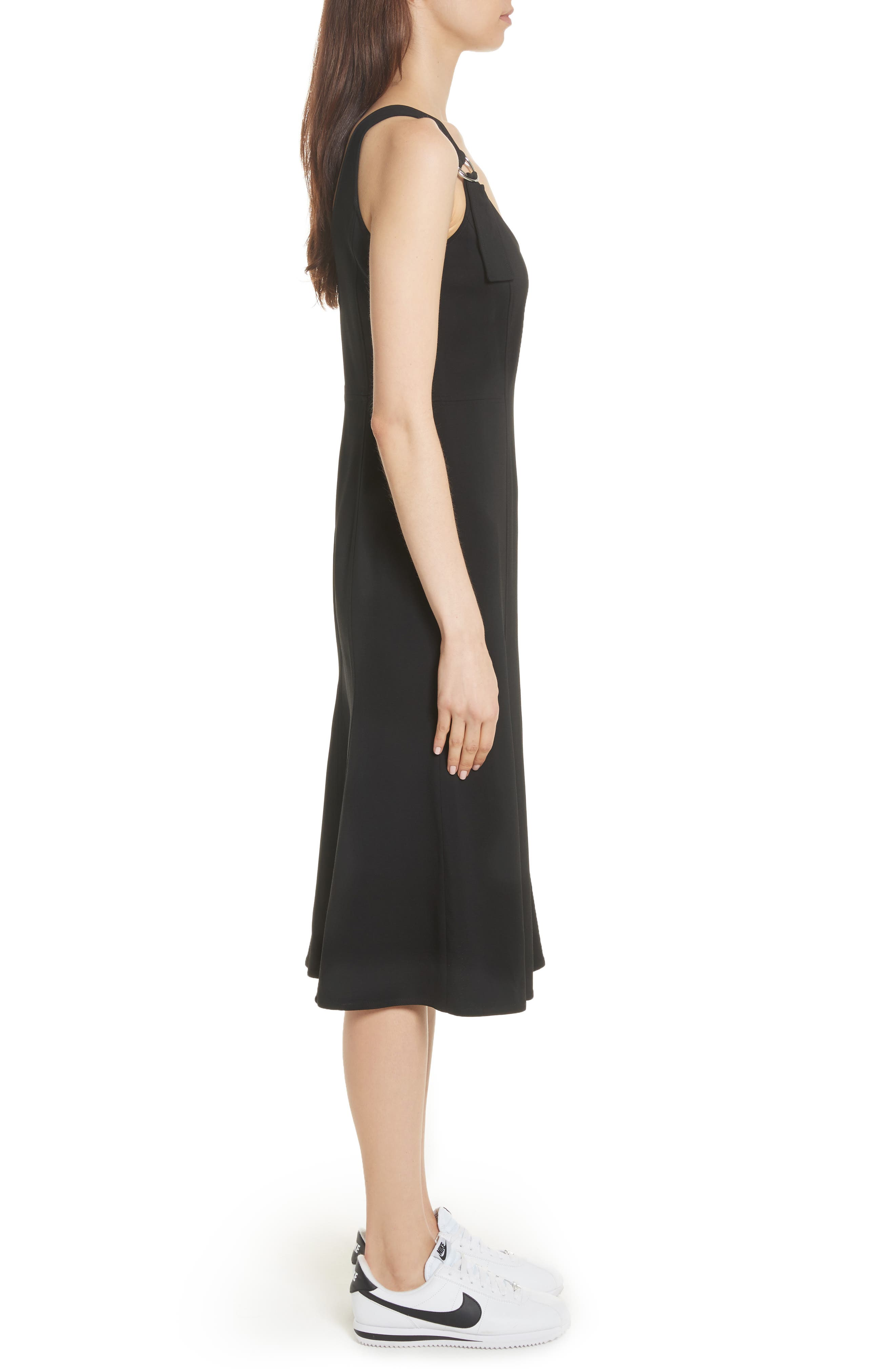 Sander Buckle Strap Midi Dress,                             Alternate thumbnail 5, color,