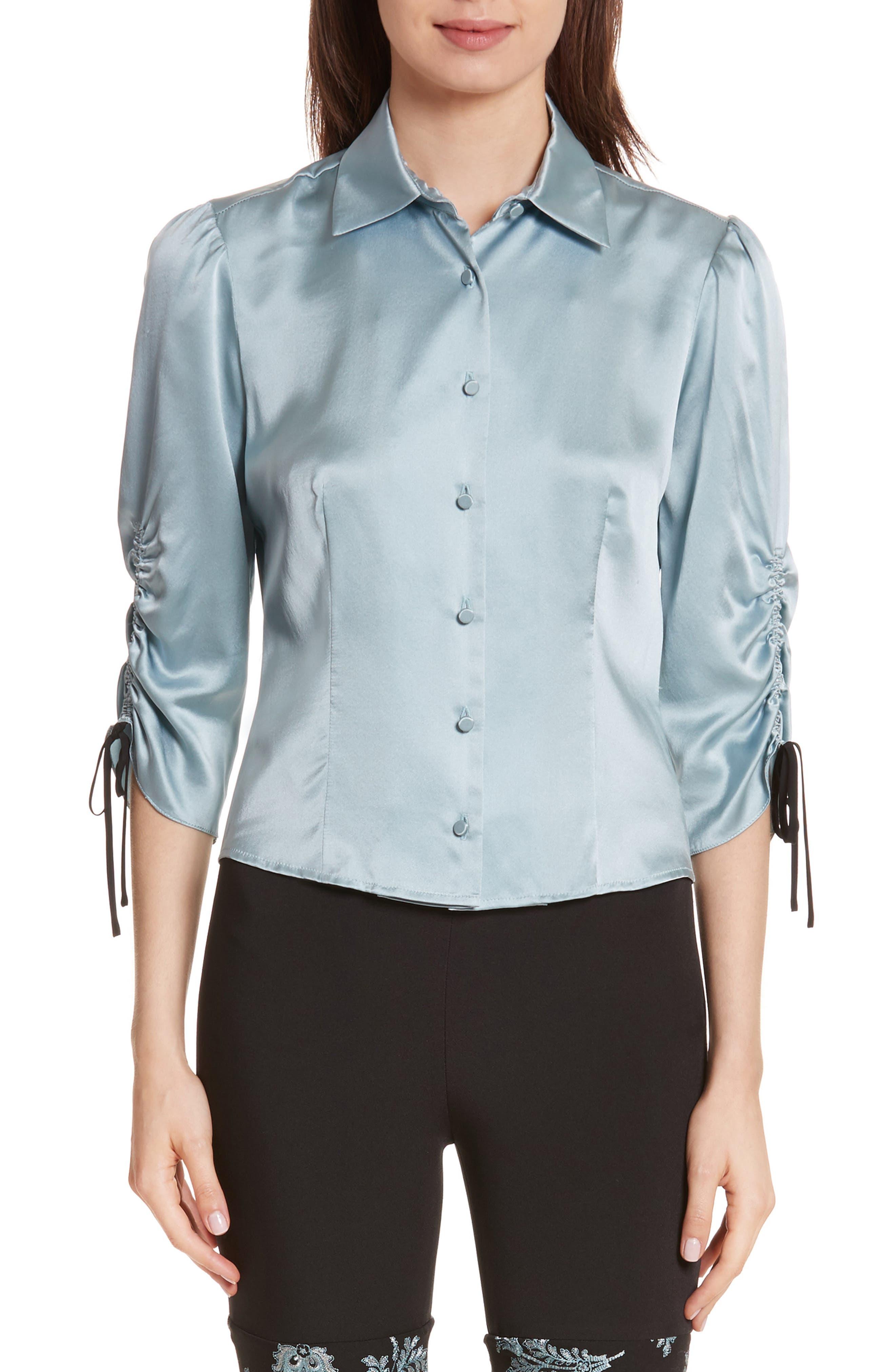 Jolene Silk Blouse,                         Main,                         color, 400