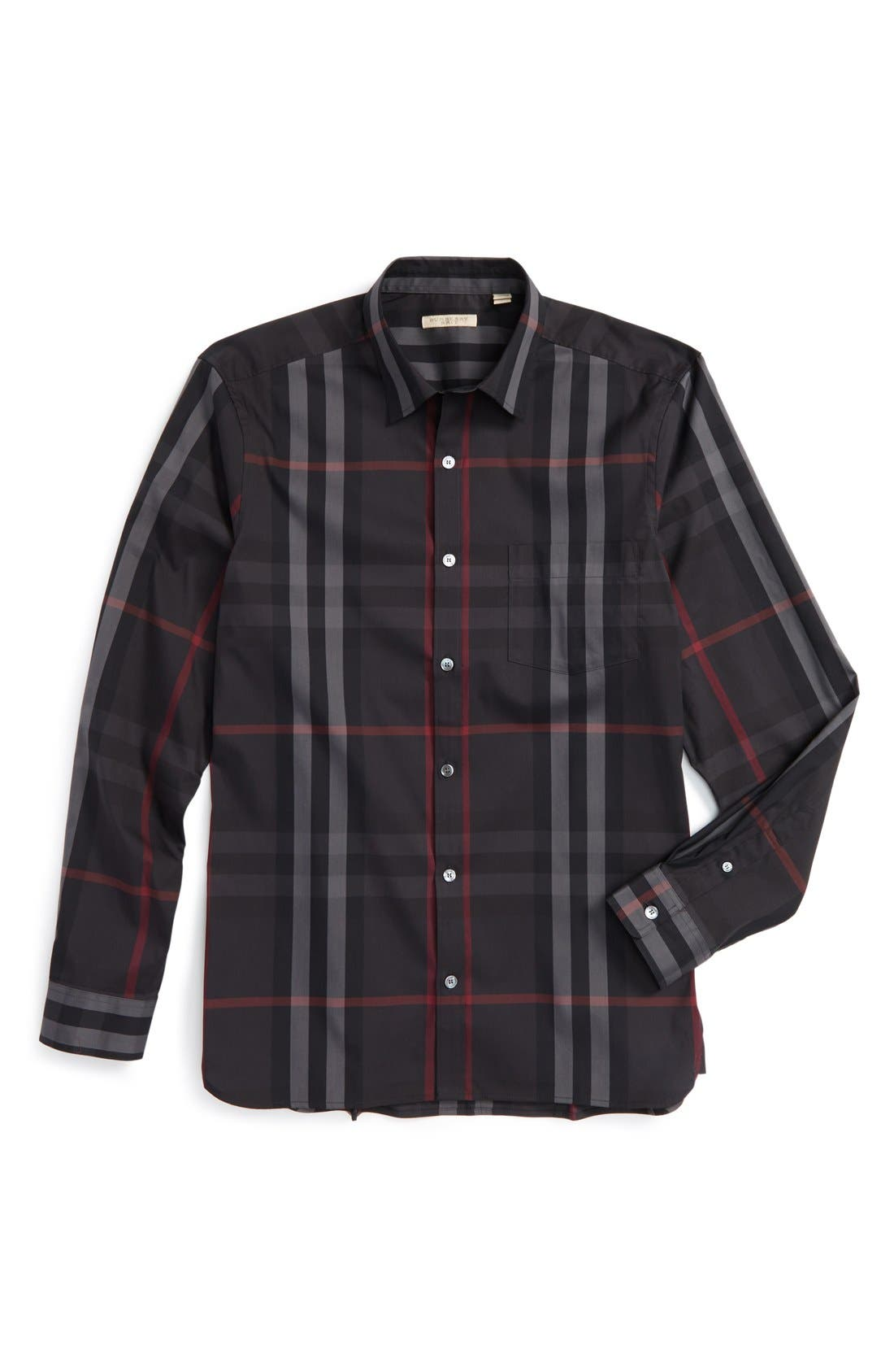 Nelson Check Sport Shirt,                             Alternate thumbnail 117, color,