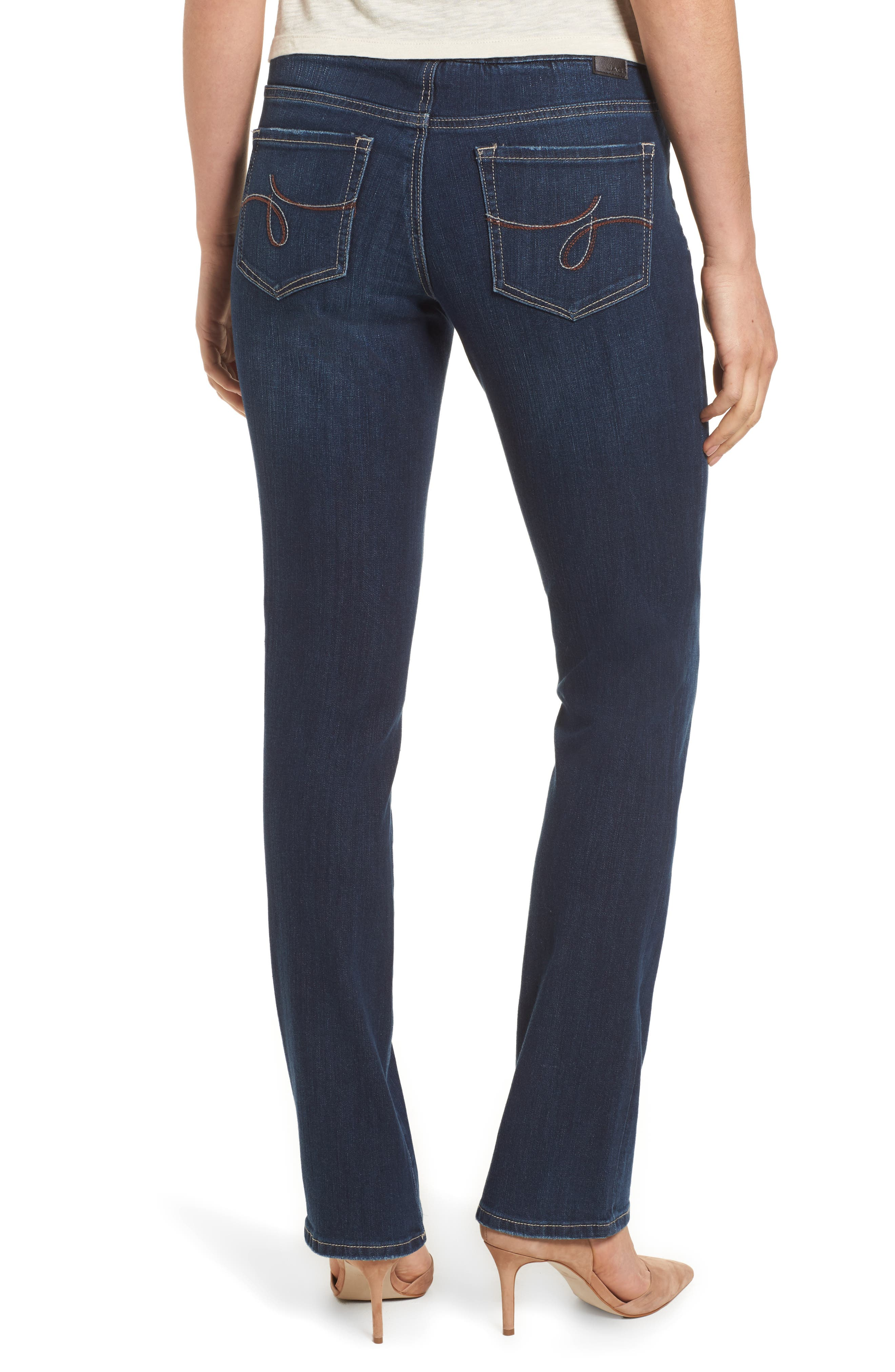 Paley Stretch Bootcut Jeans,                             Alternate thumbnail 2, color,                             DARK INDIGO