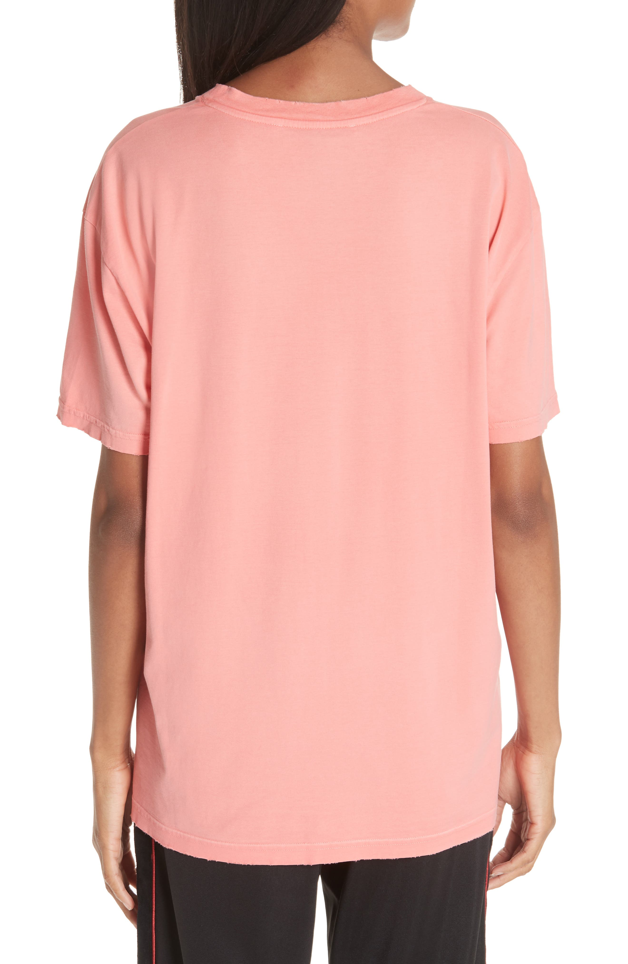 GIVENCHY,                             Distressed Logo Tee,                             Alternate thumbnail 2, color,                             CORAL