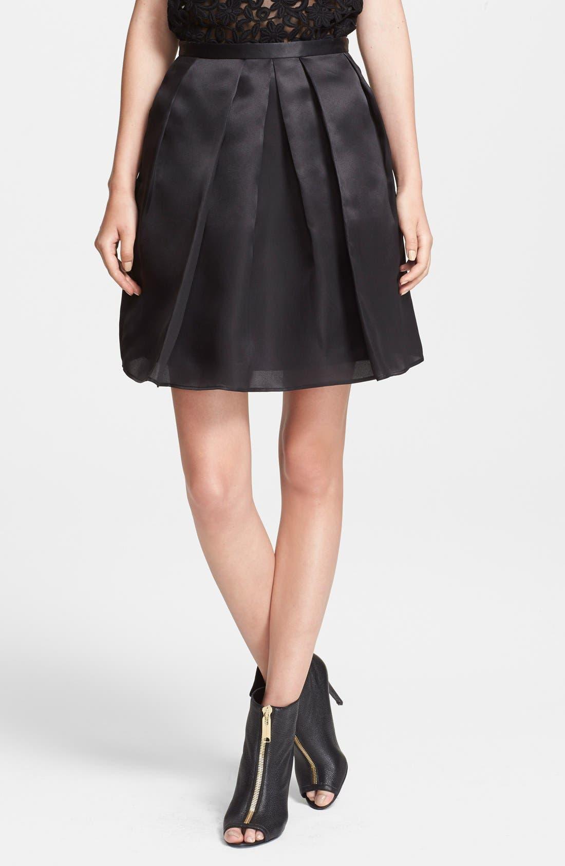 Full Organza Skirt,                             Main thumbnail 1, color,                             001