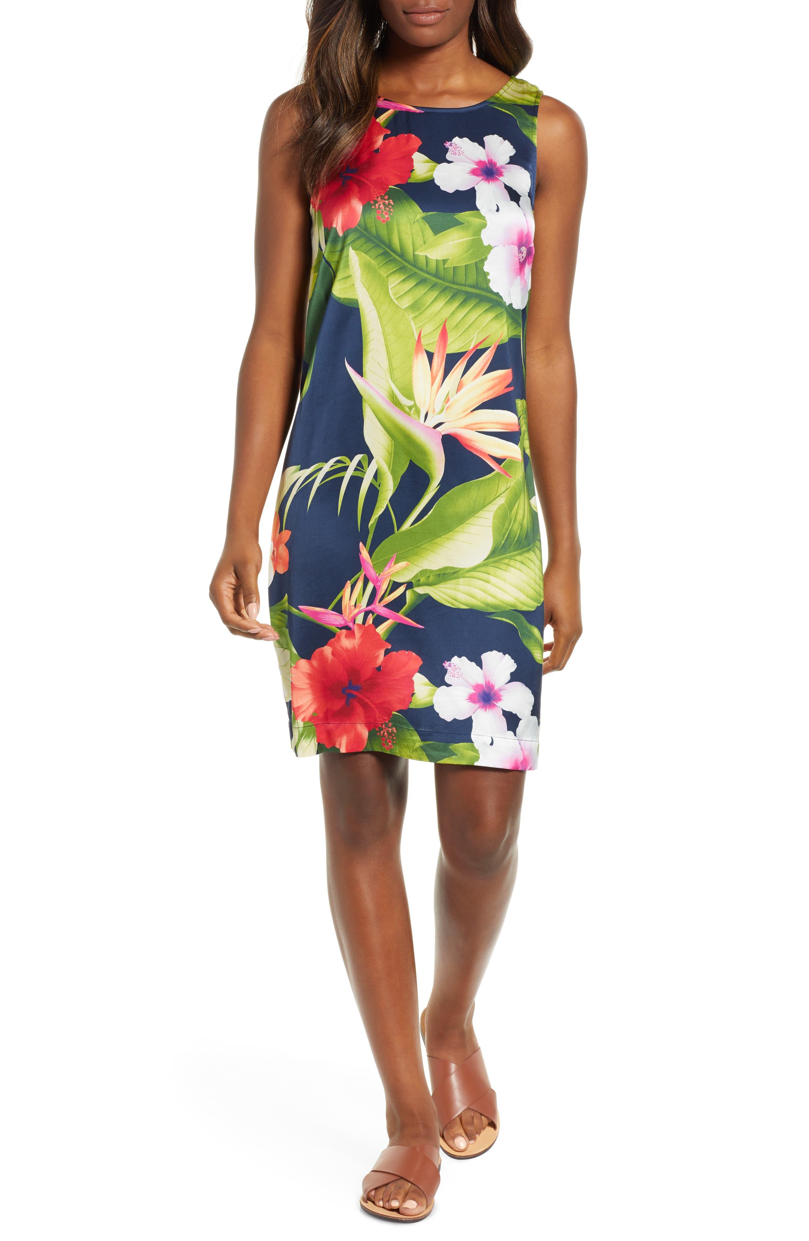 Paradise Breeze Sheath Dress,                             Main thumbnail 1, color,                             OCEAN DEEP