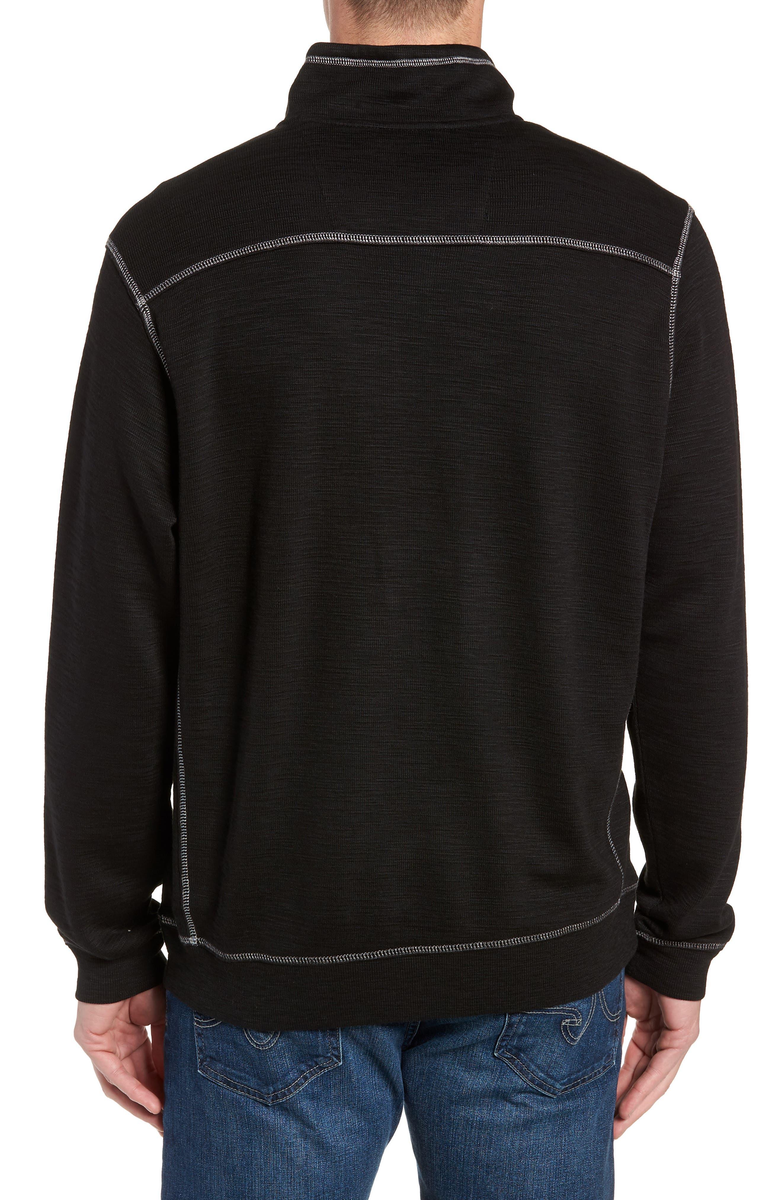 Tobago Half Zip Pullover,                             Alternate thumbnail 2, color,                             BLACK