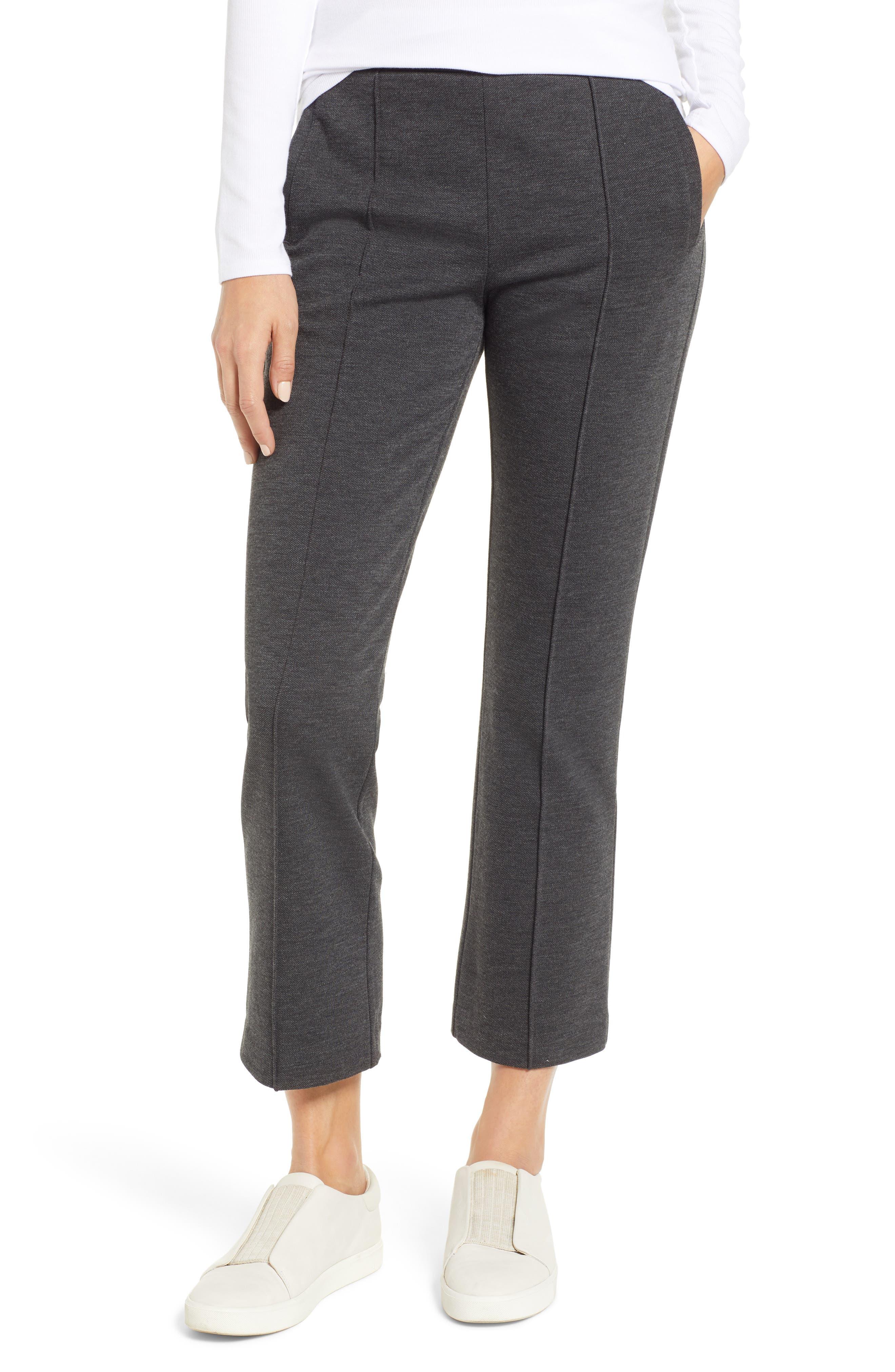Ponte Flare Pants, Main, color, BLACK