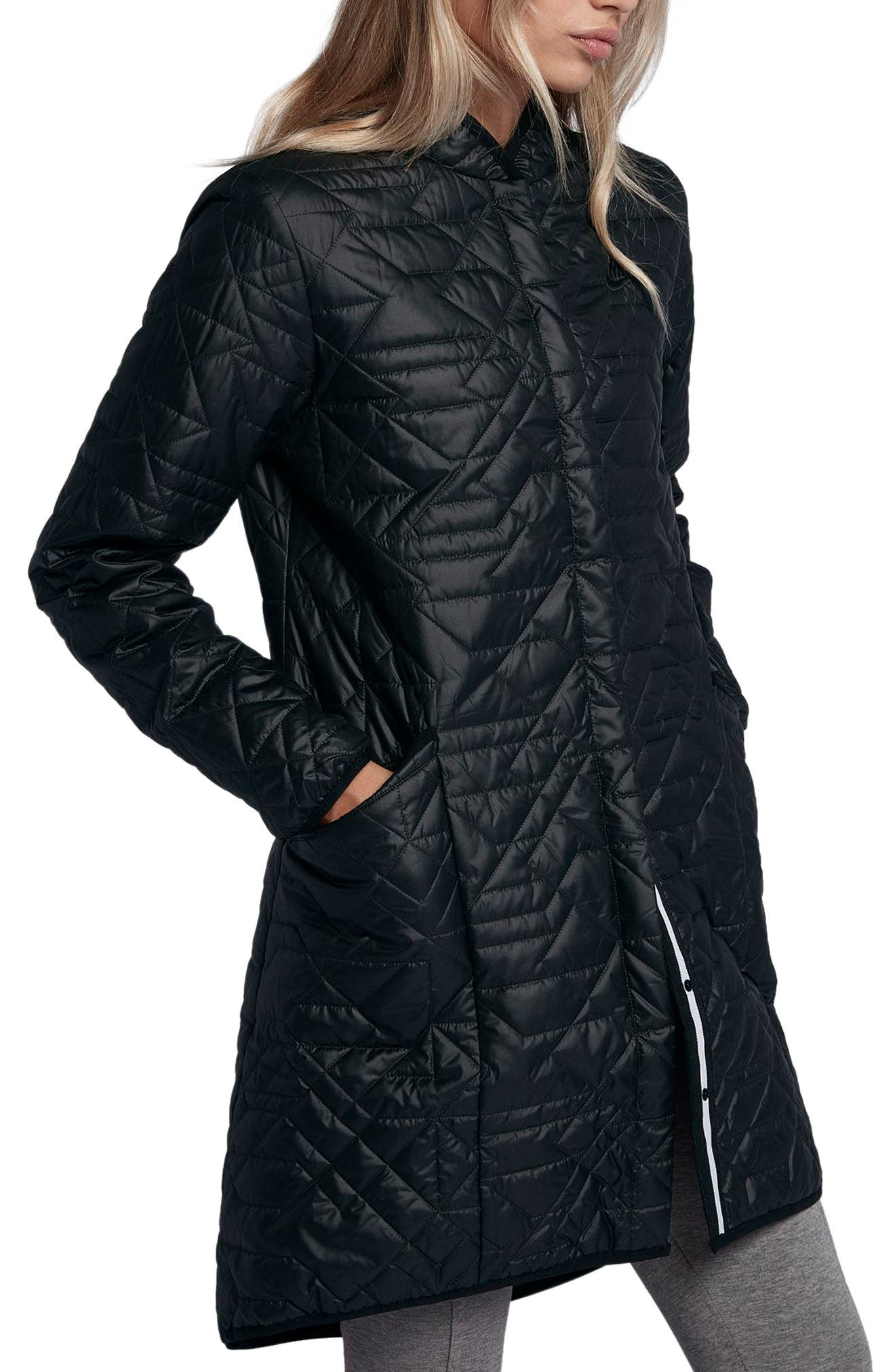 Sportswear Quilted Women's Parka,                             Alternate thumbnail 3, color,                             010