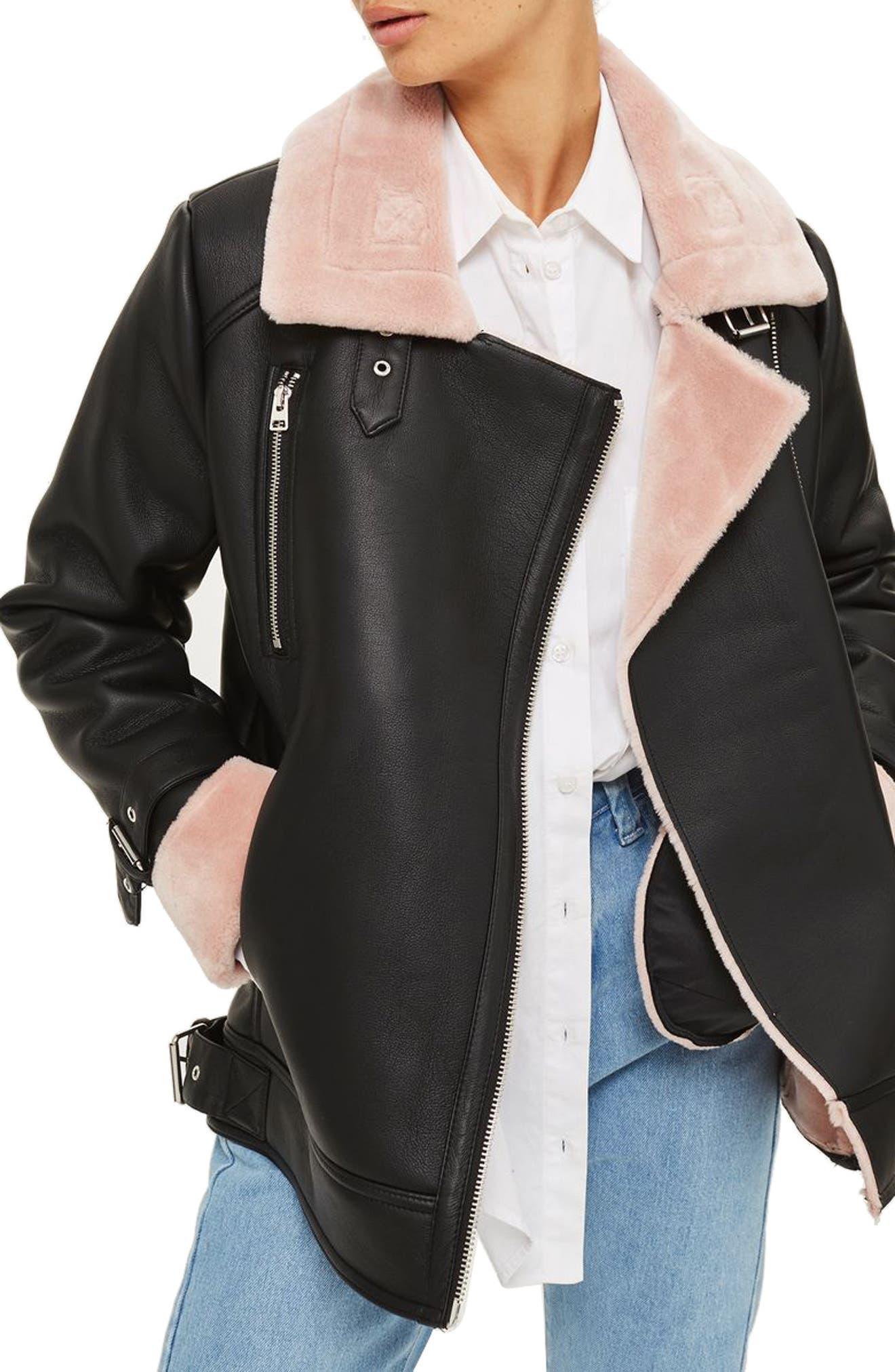 Lola Biker Jacket,                             Main thumbnail 1, color,                             001