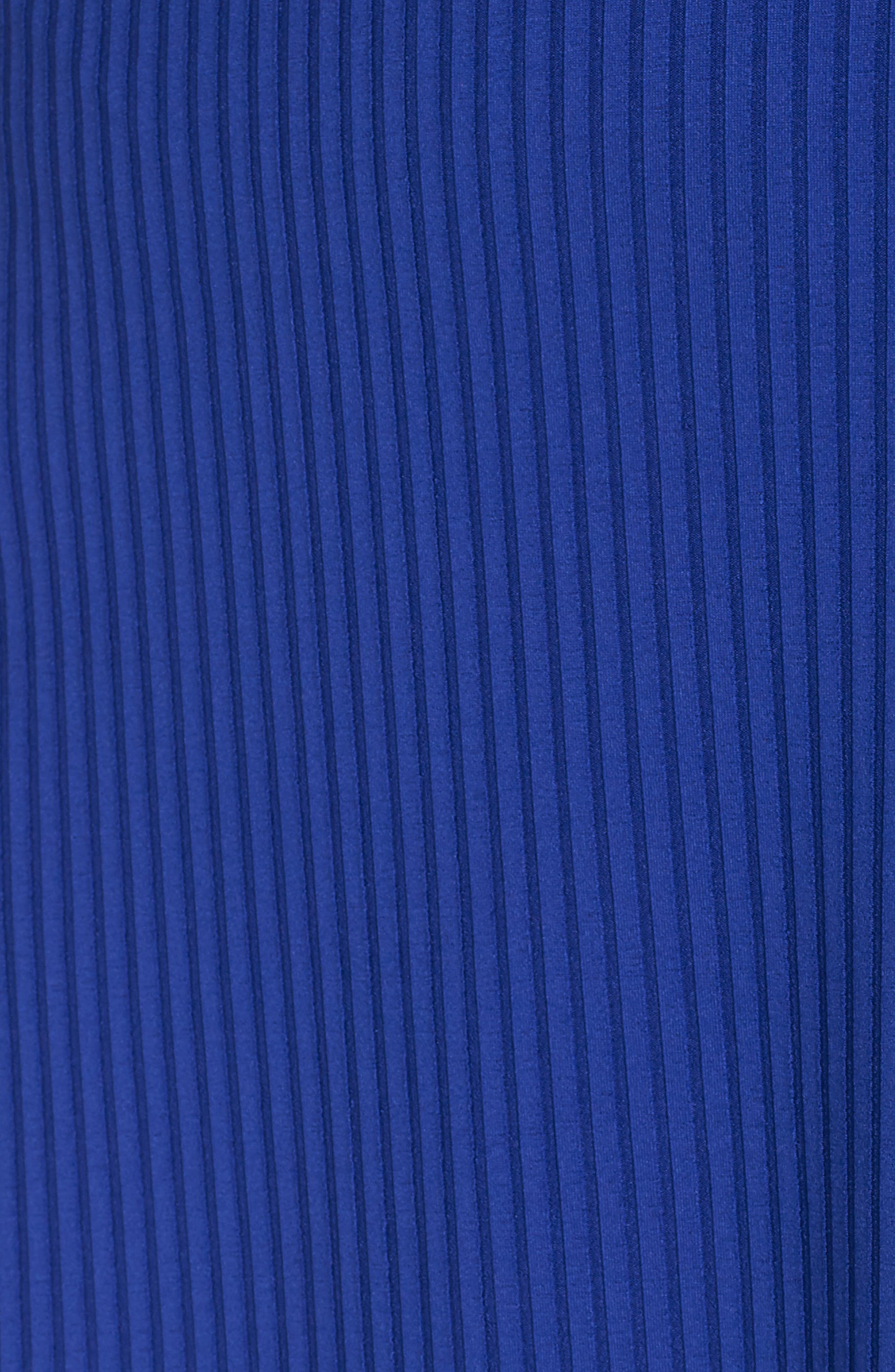 Ribbed Knit Skater Dress,                             Alternate thumbnail 6, color,                             BLUE