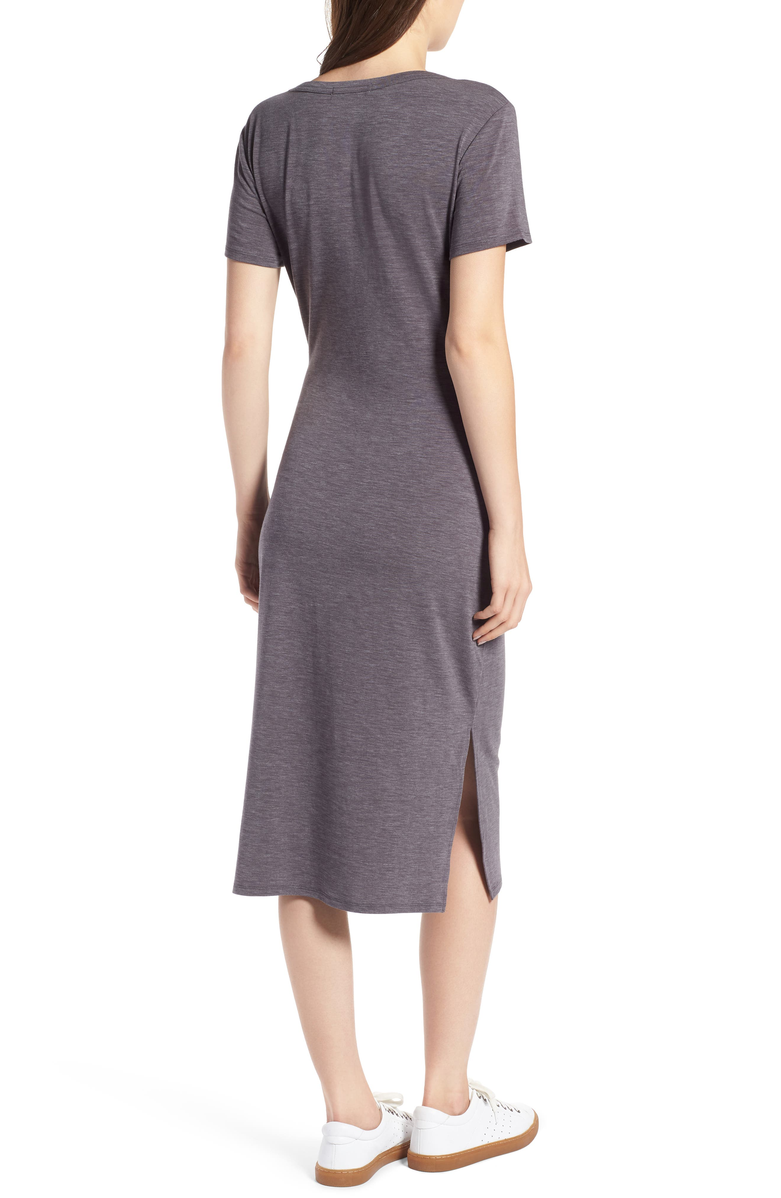 Twist Front Midi Dress,                             Alternate thumbnail 2, color,                             030