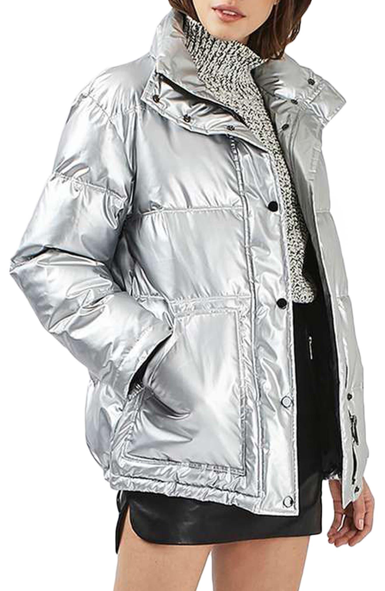 Bianca Metallic Puffer Jacket,                             Main thumbnail 1, color,                             040