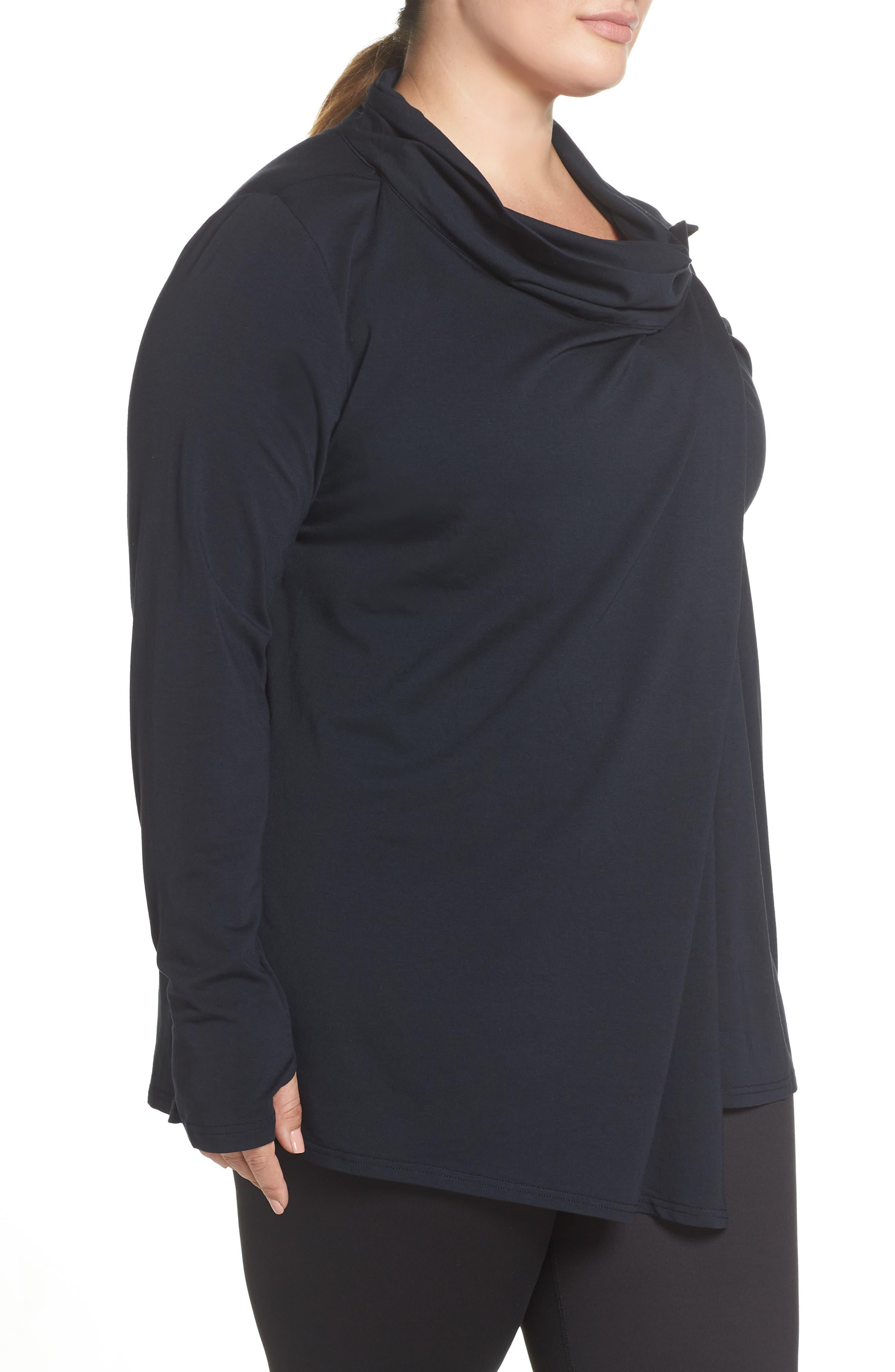 SHAPE ACTIVEWEAR,                             Odyssey Wrap Jacket,                             Alternate thumbnail 3, color,                             CAVIAR BLACK