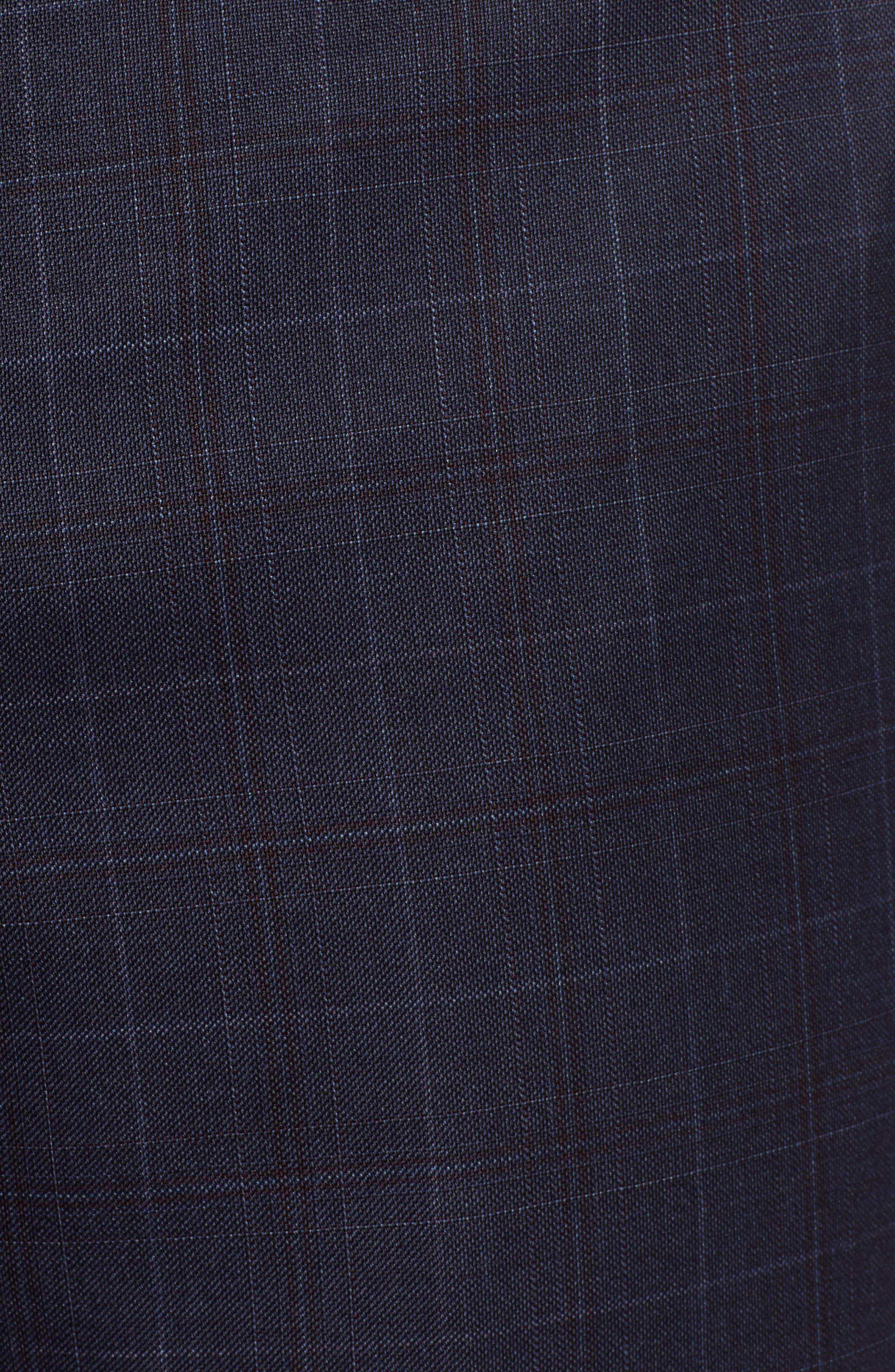 Classic Fit Plaid Wool Suit,                             Alternate thumbnail 7, color,                             BLUE