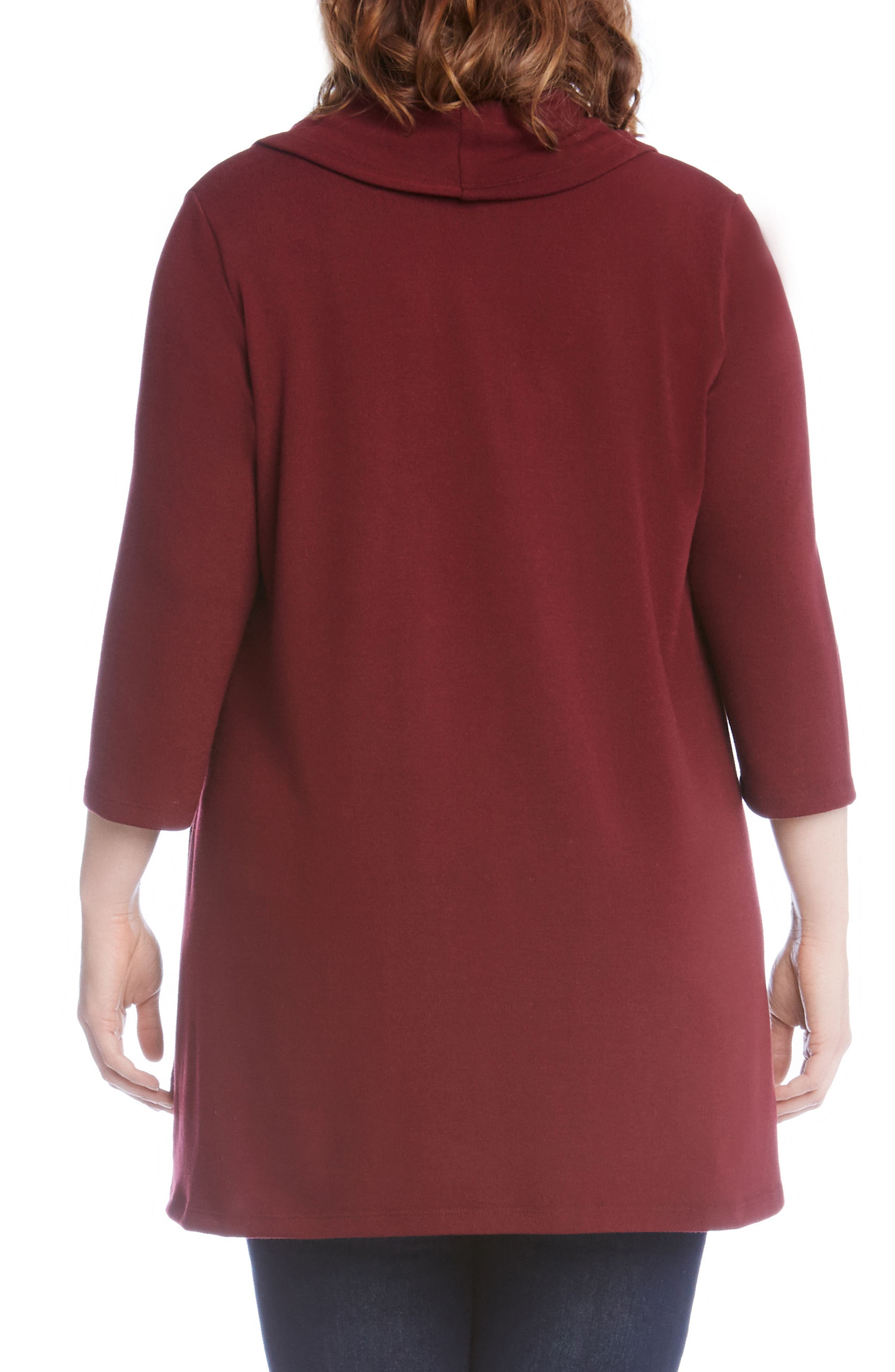 Cowl Neck High/Low Sweater,                             Alternate thumbnail 6, color,