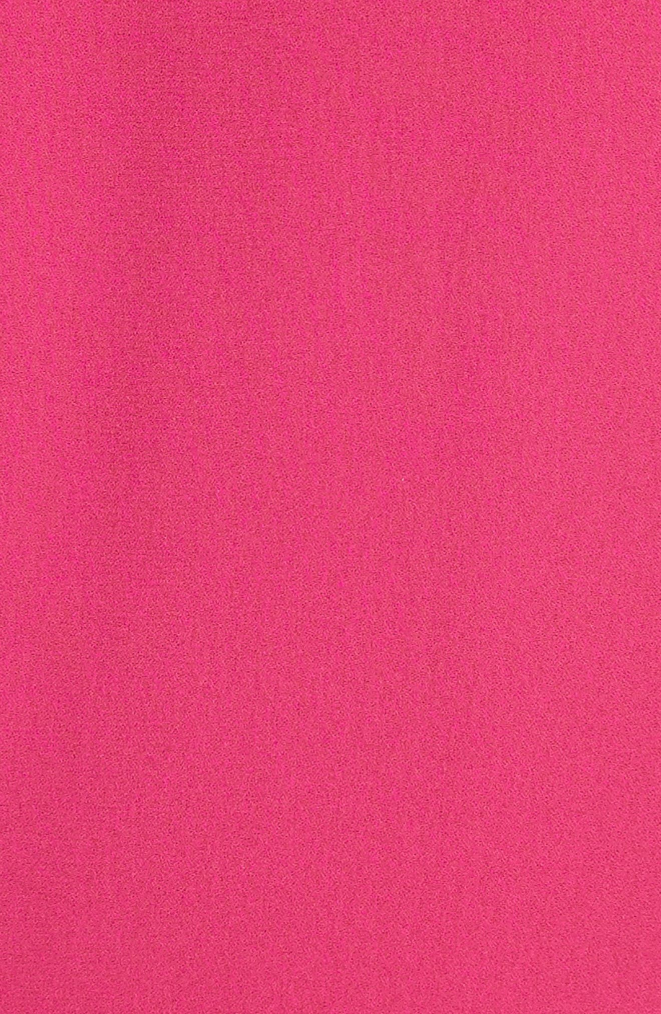 Gathered Silk Dress,                             Alternate thumbnail 5, color,                             657