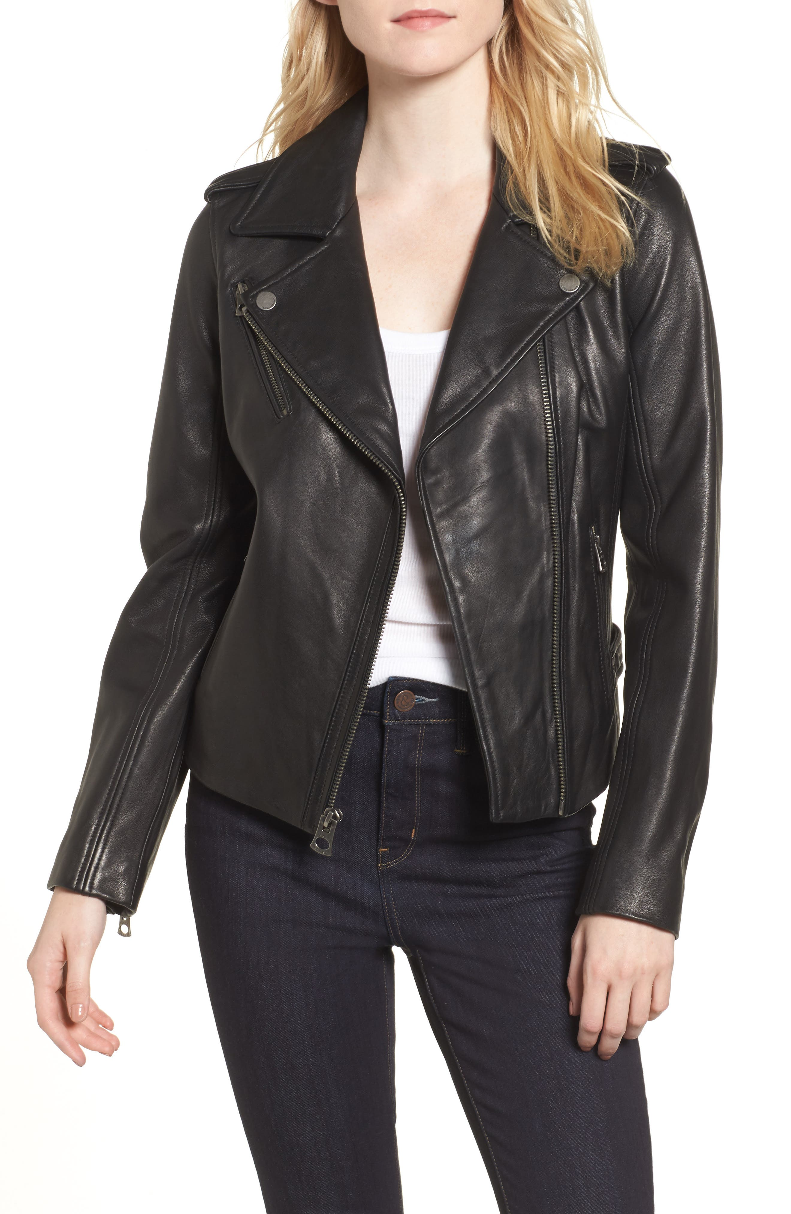 Leather Jacket,                             Main thumbnail 1, color,