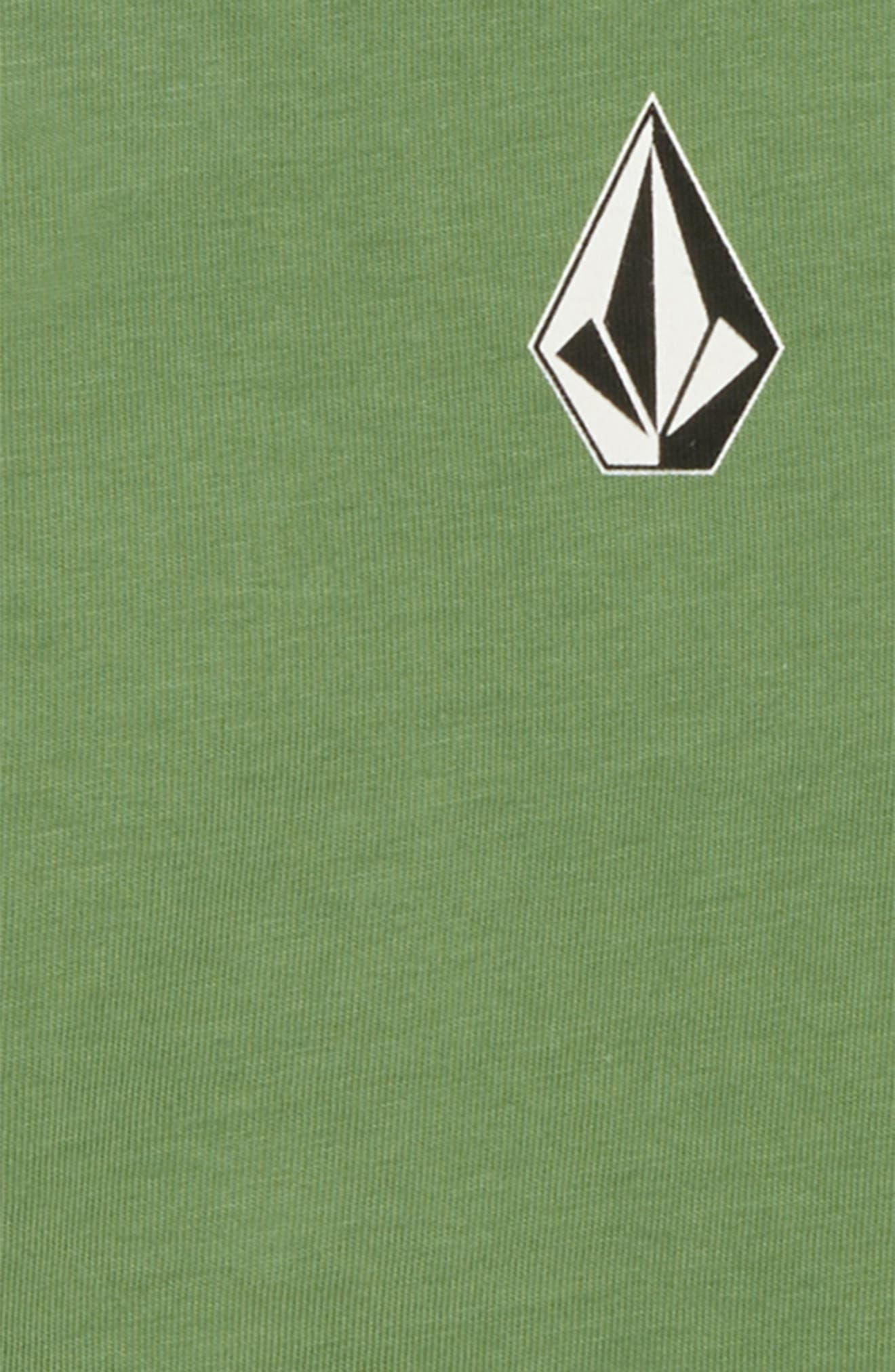 Deadlystones Graphic Long Sleeve T-Shirt,                             Alternate thumbnail 2, color,                             DARK KELLY