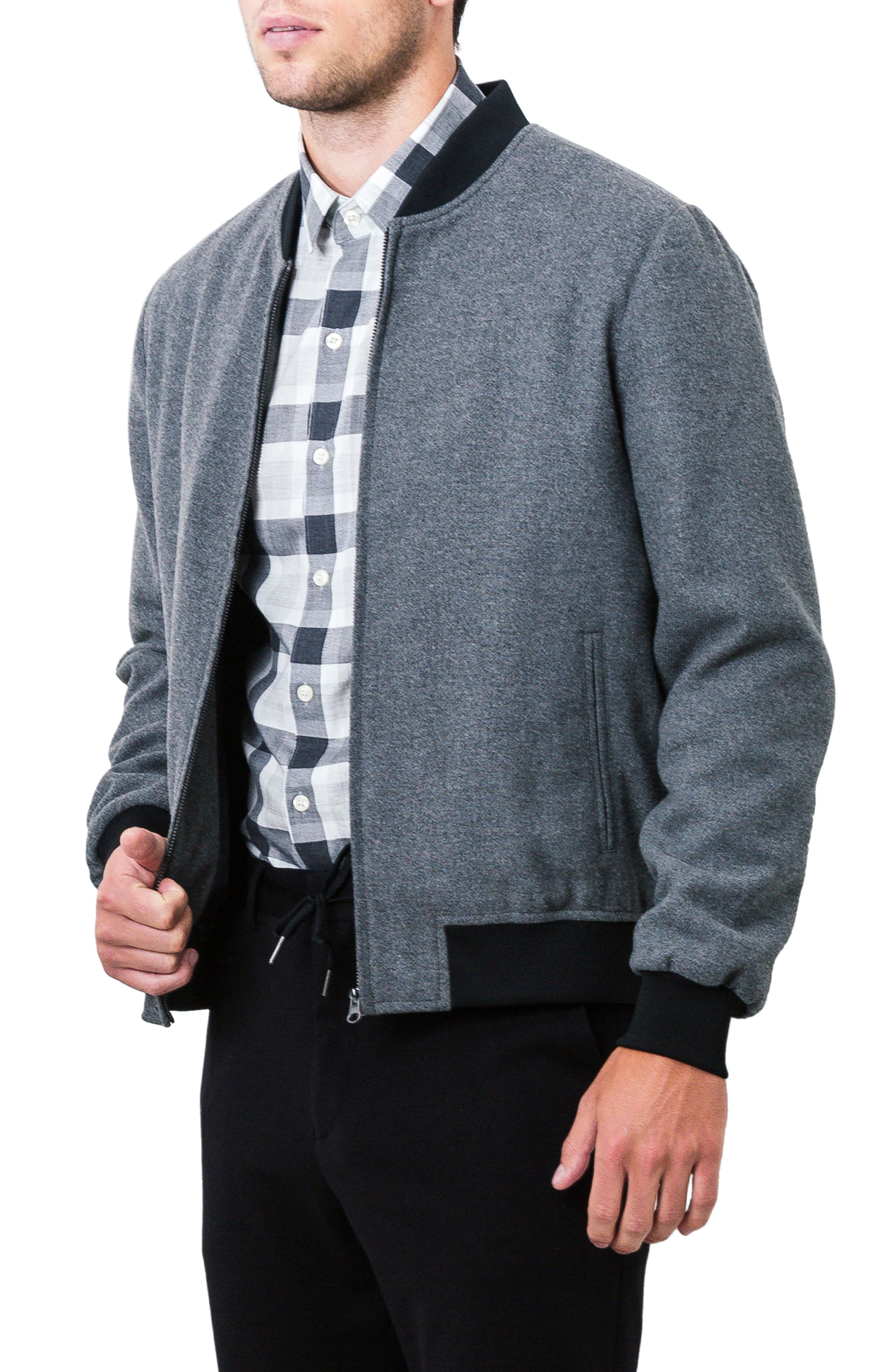 Aether Bomber Jacket,                             Alternate thumbnail 8, color,